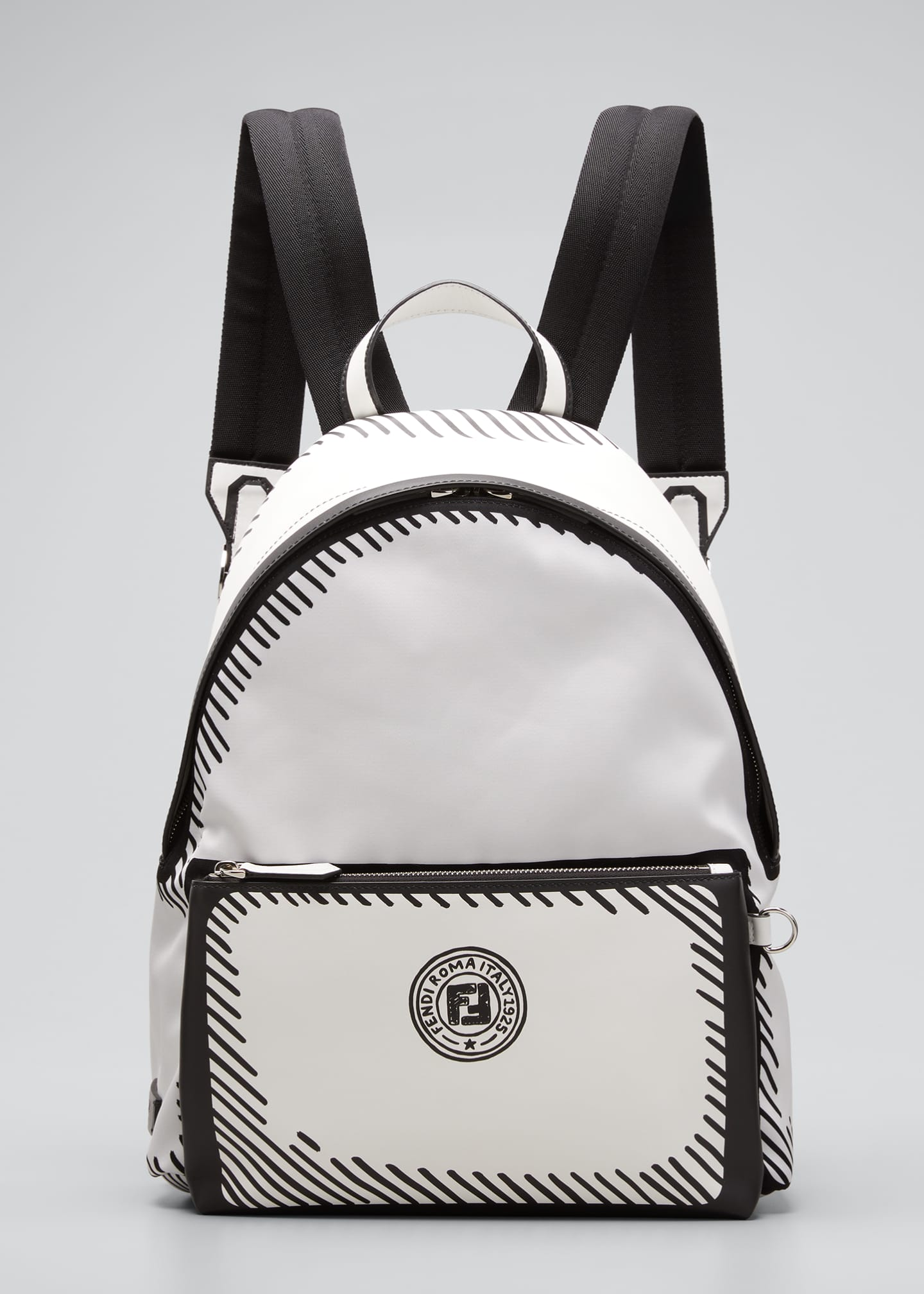 Image 1 of 5: Men's Roma Sketch-Print Backpack
