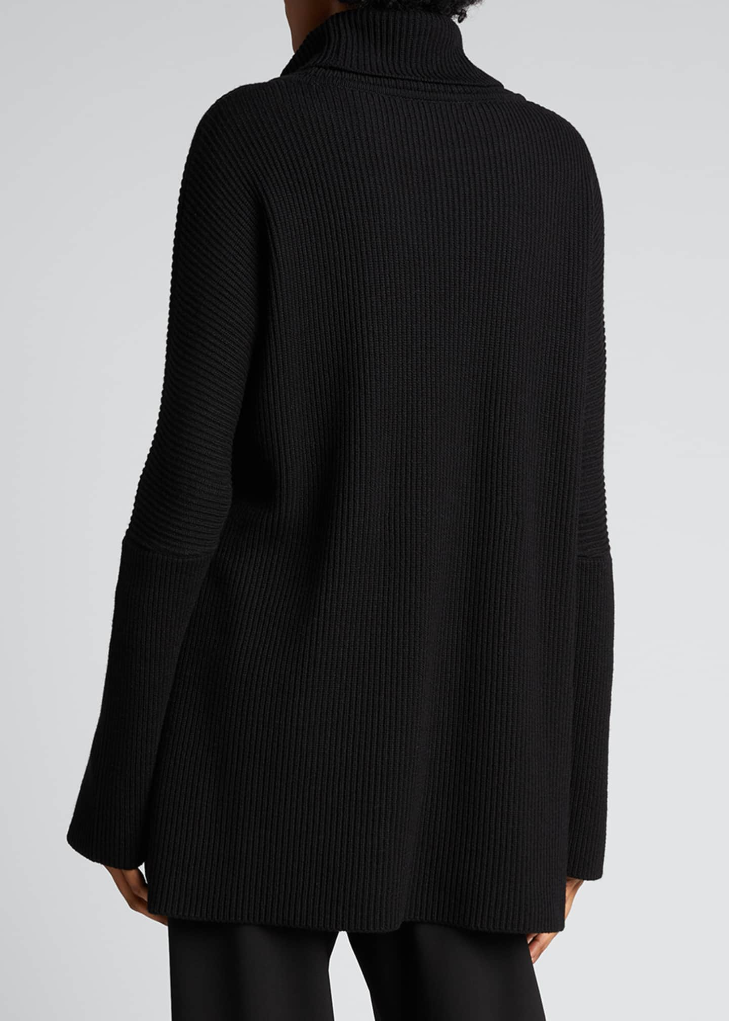Image 2 of 5: Turtleneck Ribbed Silk-Cashmere Sweater