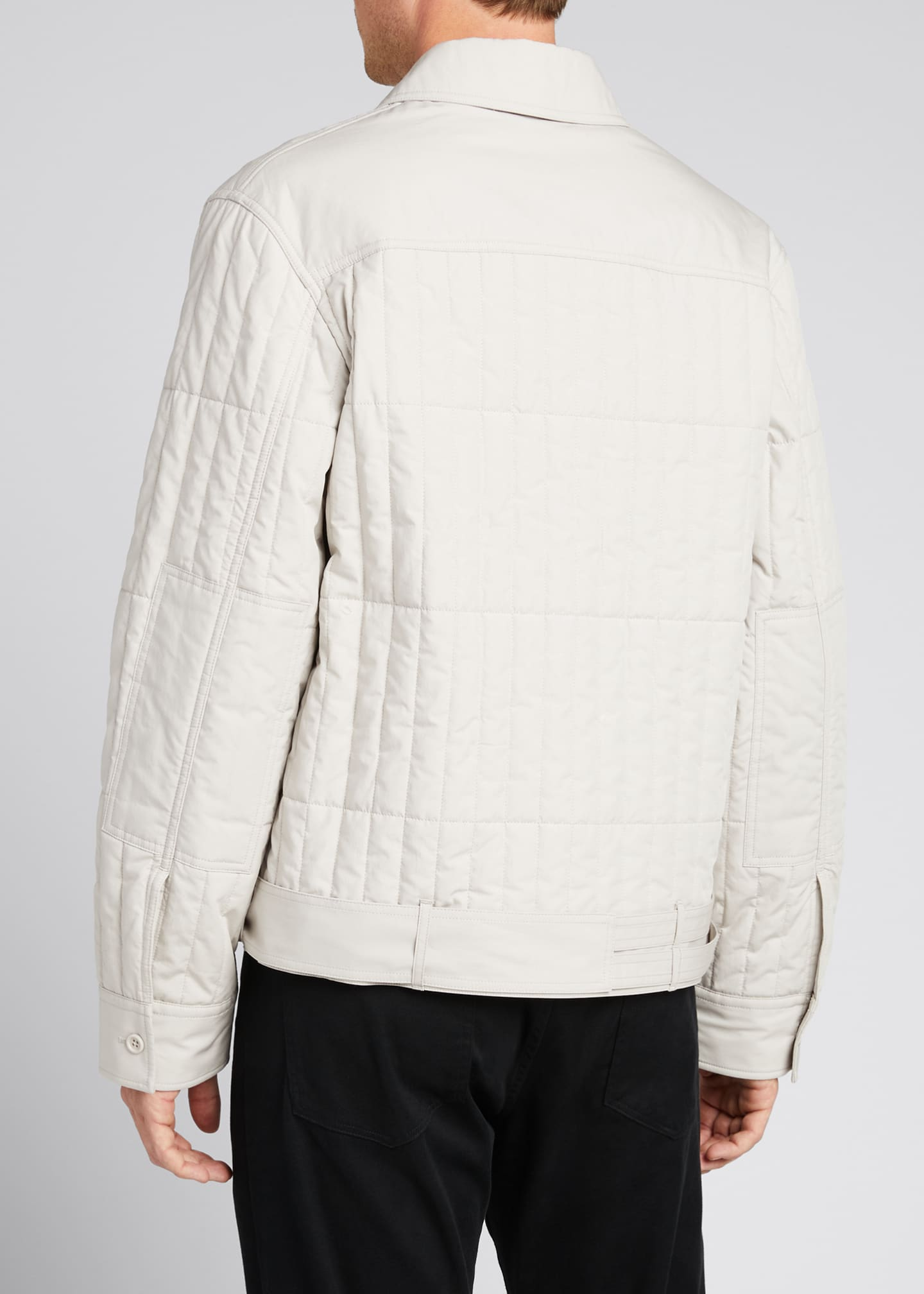 Image 2 of 5: Men's Quilted Jacket with Belt