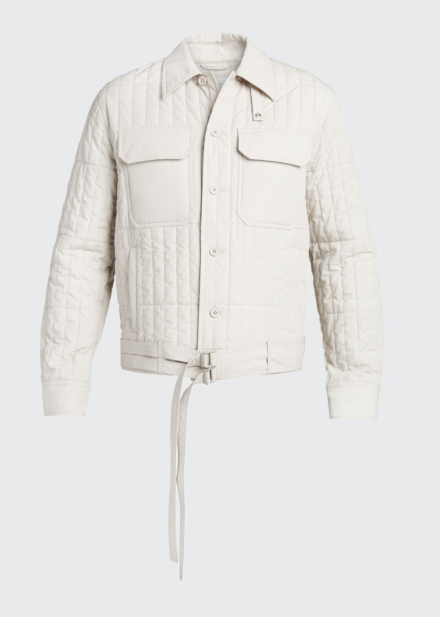 Image 5 of 5: Men's Quilted Jacket with Belt