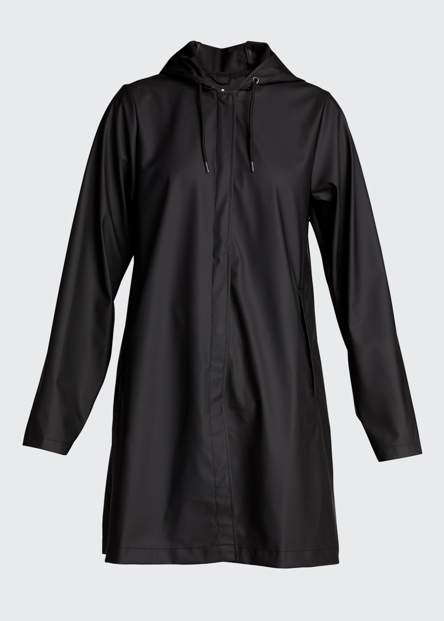 Image 5 of 5: Hooded A-Line Raincoat