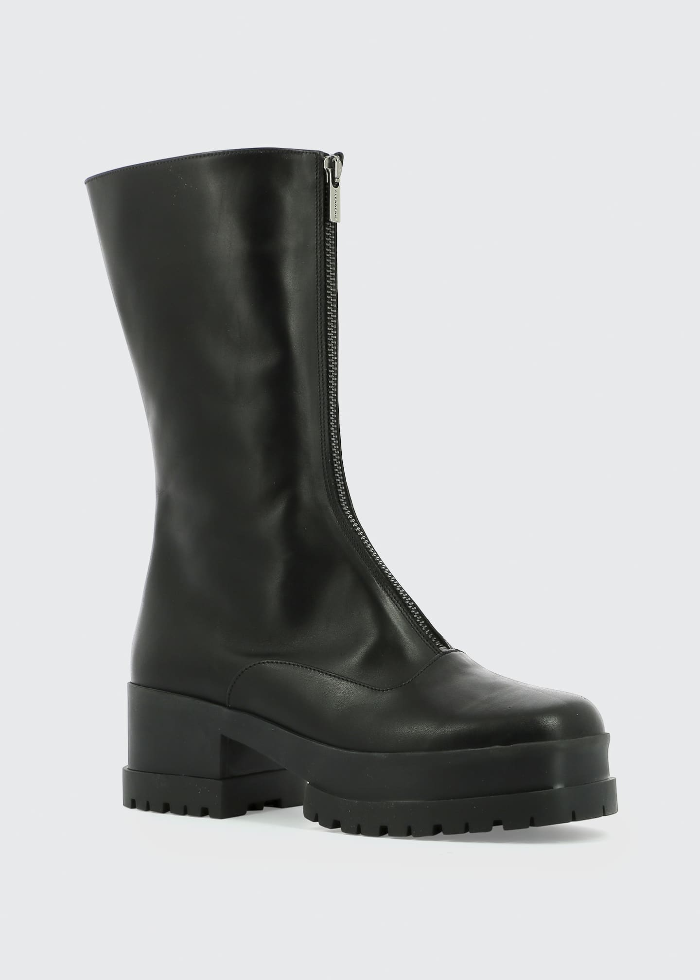 Image 2 of 3: Wallie Leather Zip Platform Boots