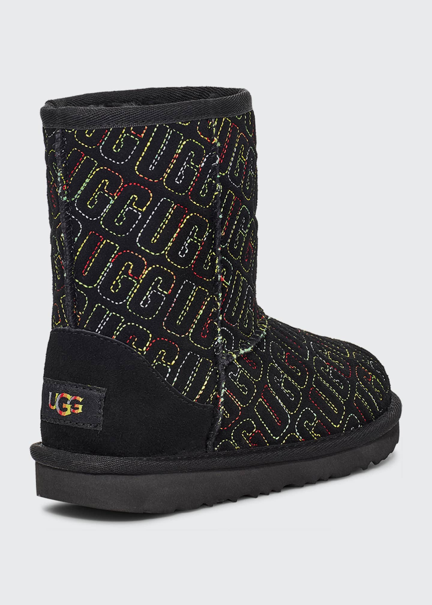 Image 2 of 3: Girl's Classic II Logo Stitch Graphic Short Boots, Kids