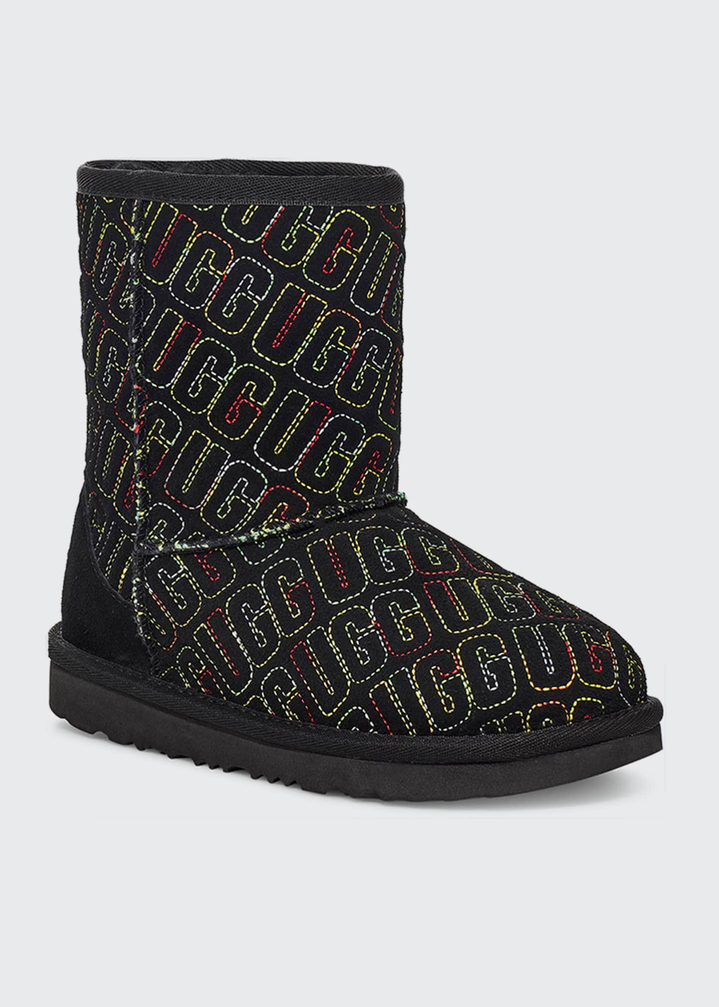 Image 1 of 3: Girl's Classic II Logo Stitch Graphic Short Boots, Kids