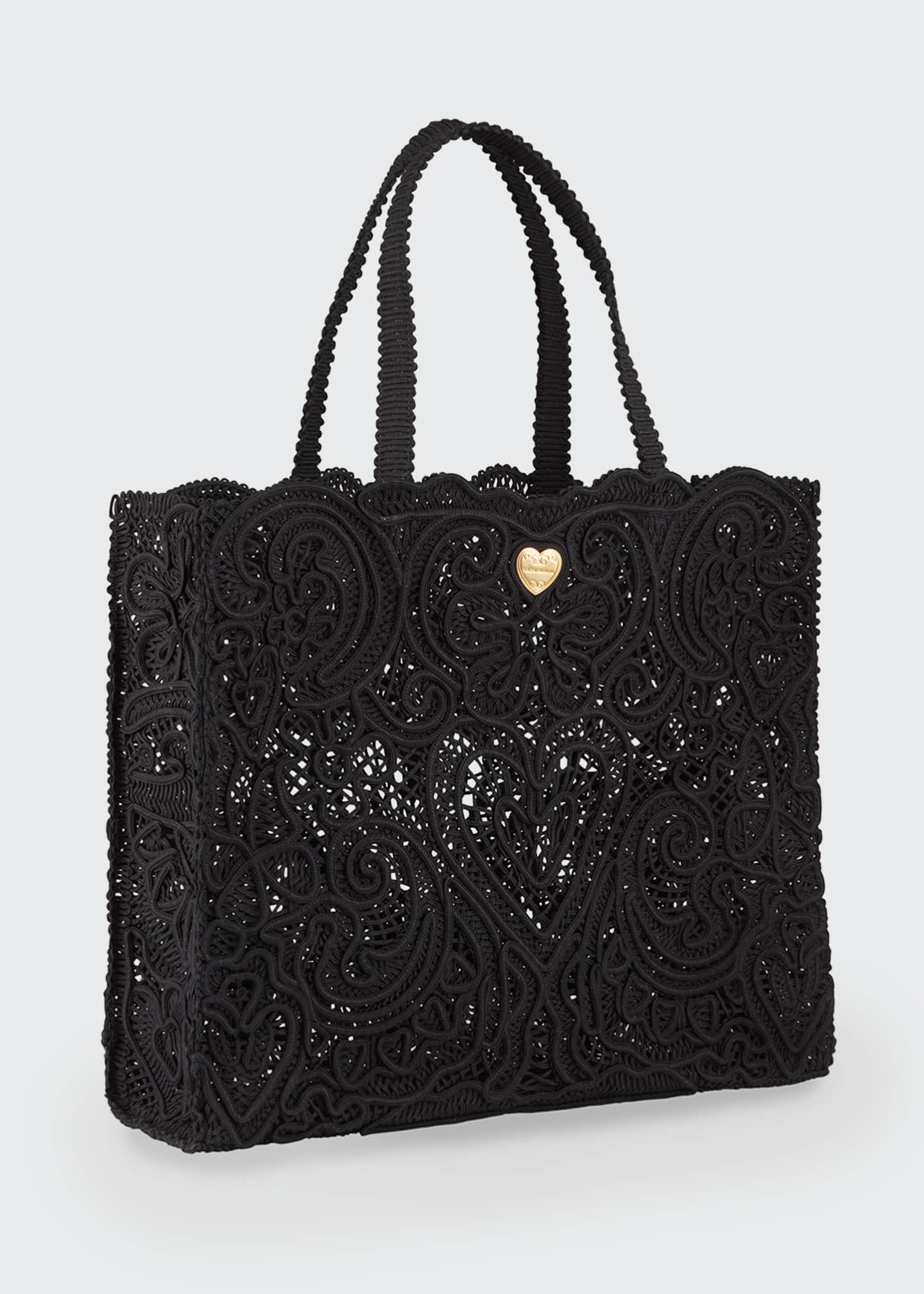 Image 2 of 3: Beatrice Large Lace Tote Bag