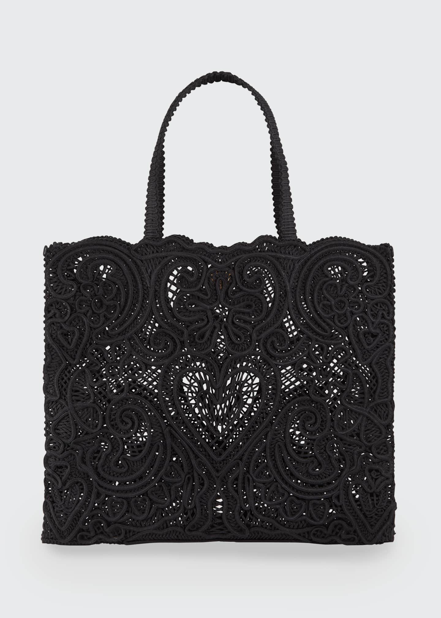 Image 1 of 3: Beatrice Large Lace Tote Bag
