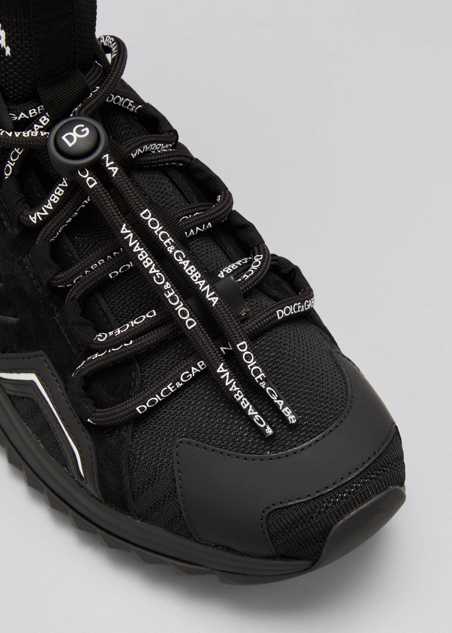 Image 3 of 3: Men's Sorrento Trekking Mesh Sock-Collar Sneakers