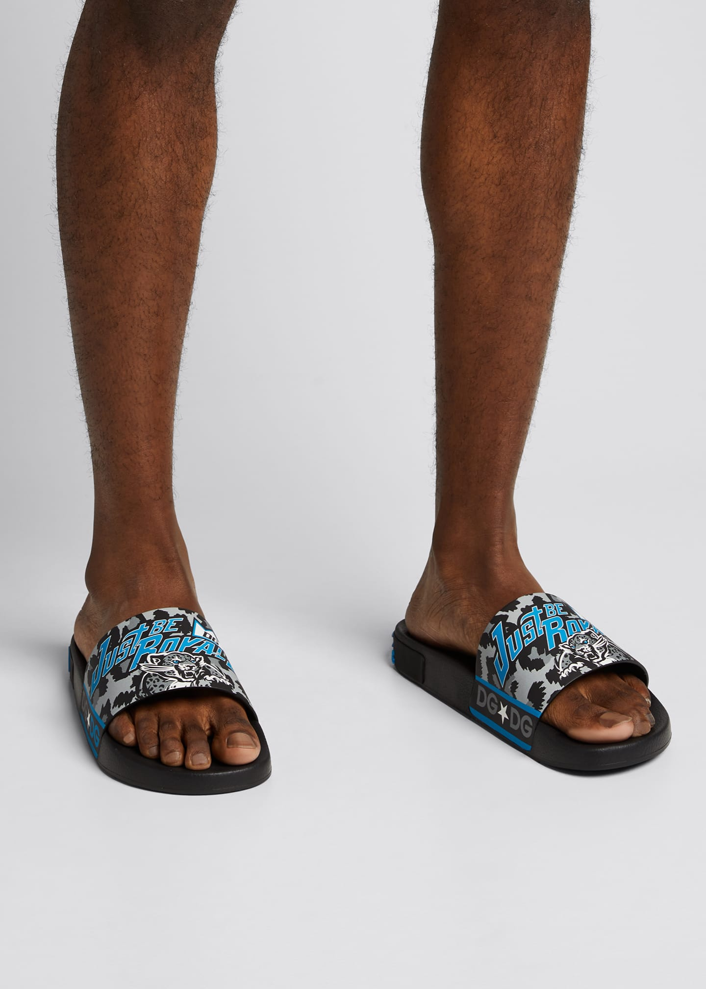 Image 2 of 5: Men's DG Royals Tiger Pool Slide Sandals