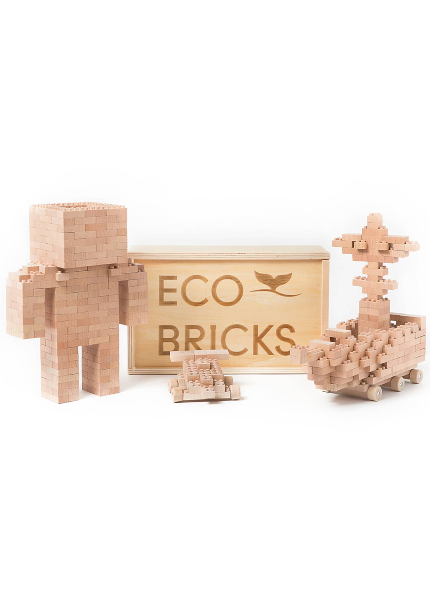 Image 2 of 3: Eco-Bricks 250 Piece Wooden Block Set