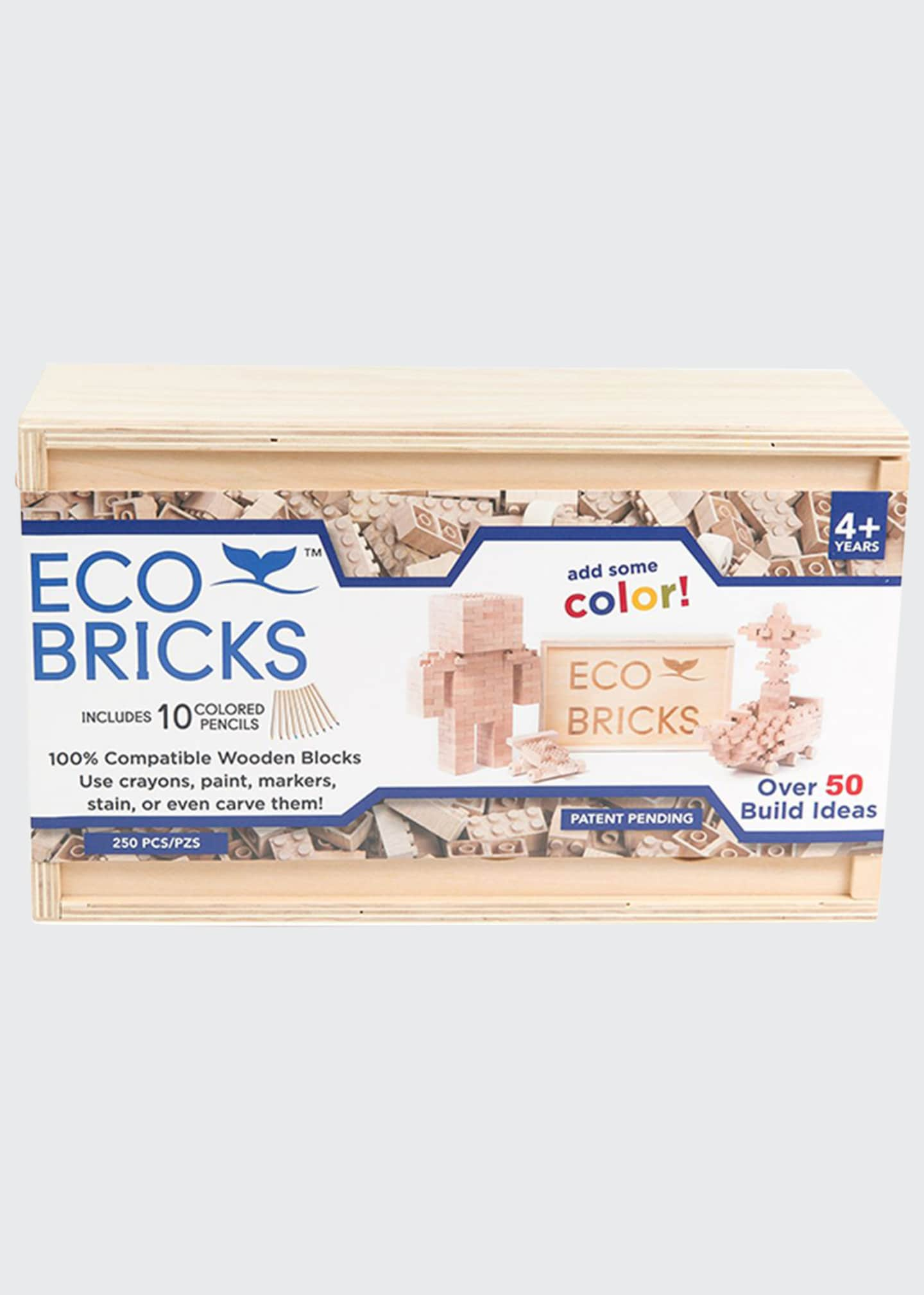 Image 1 of 3: Eco-Bricks 250 Piece Wooden Block Set
