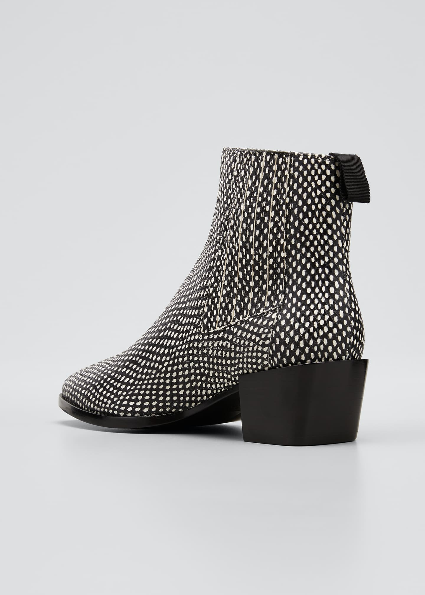 Image 2 of 3: Rover Snake-Print Ankle Booties