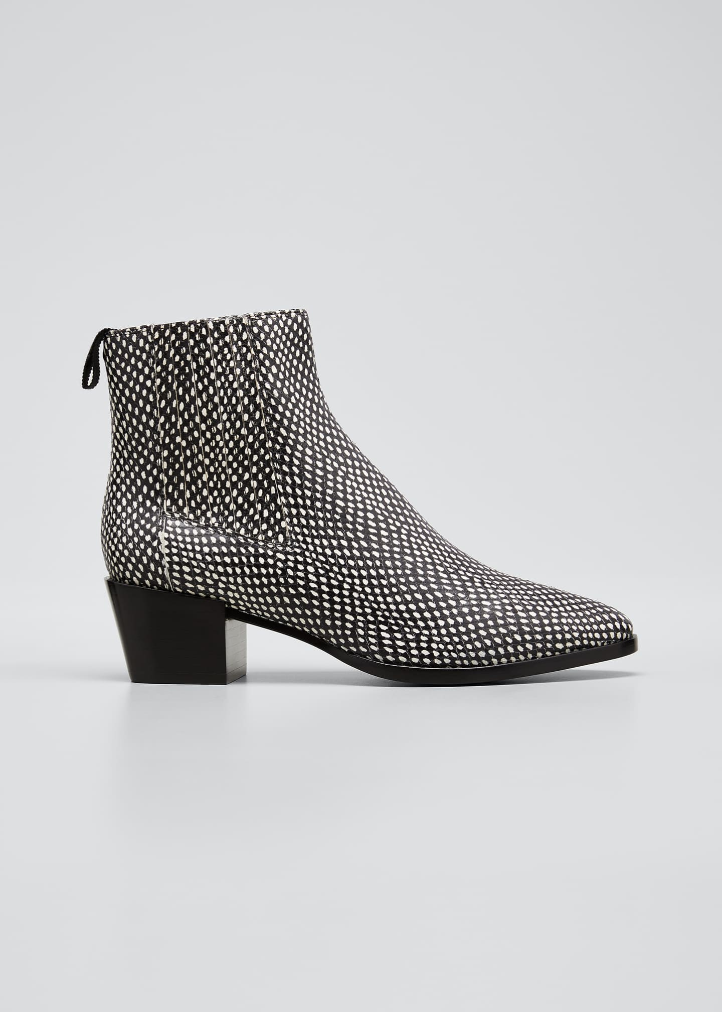 Image 1 of 3: Rover Snake-Print Ankle Booties