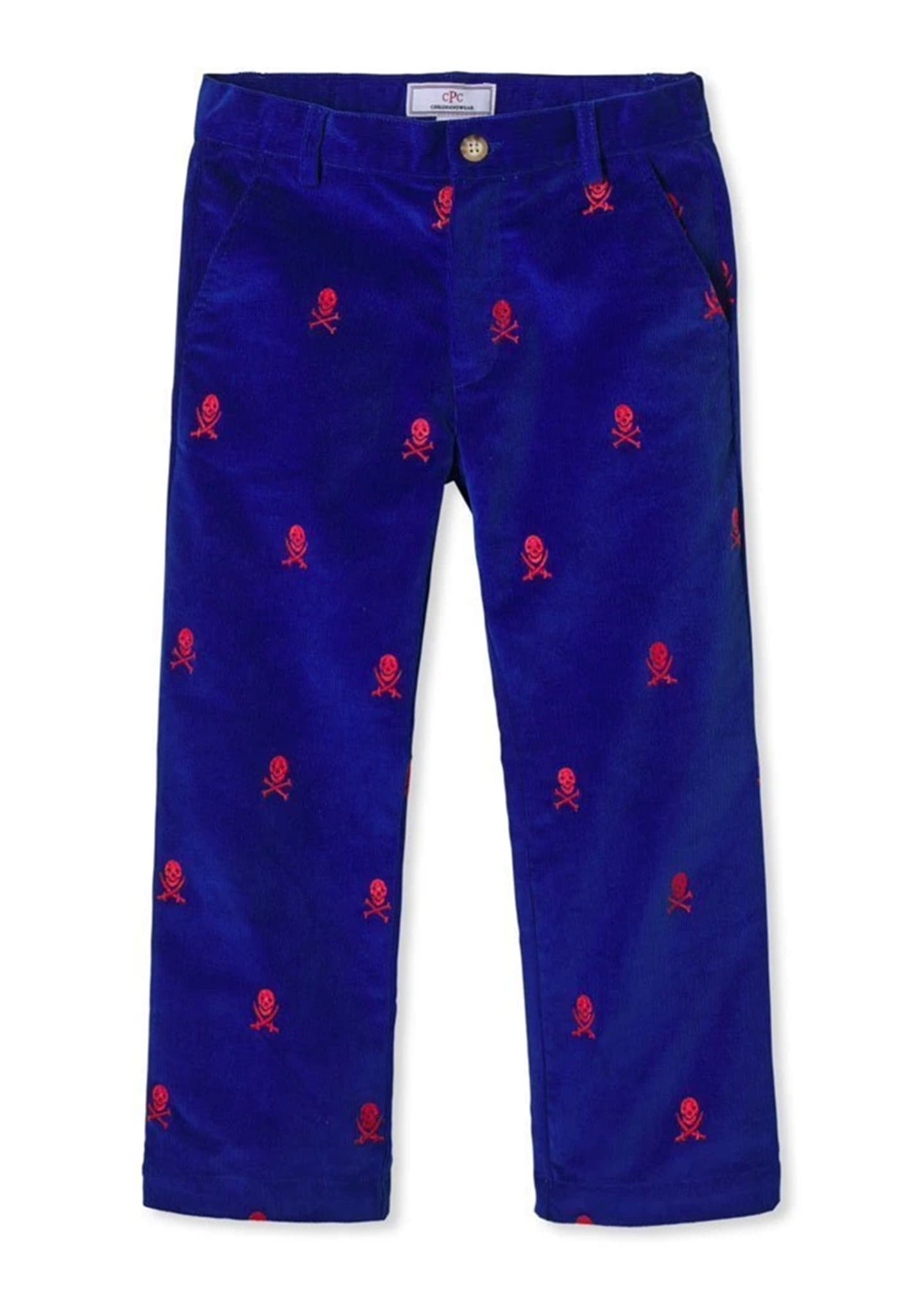 Image 1 of 1: Boy's Gavin Embroidered Slim-Fit Pants, Size 4-14