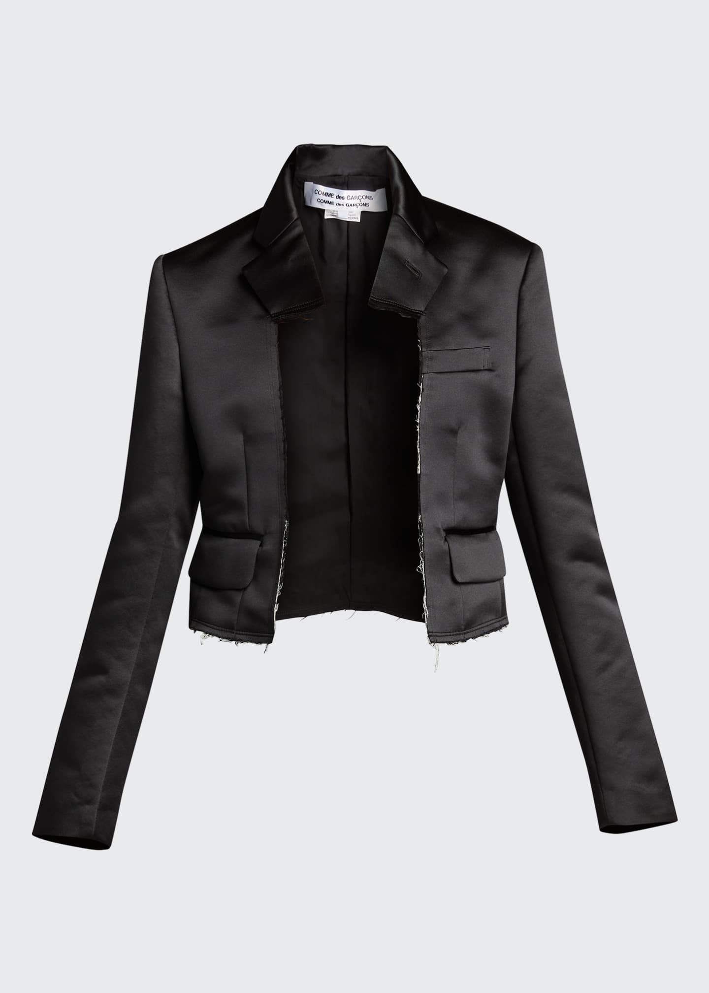Image 5 of 5: Cropped Satin Blazer