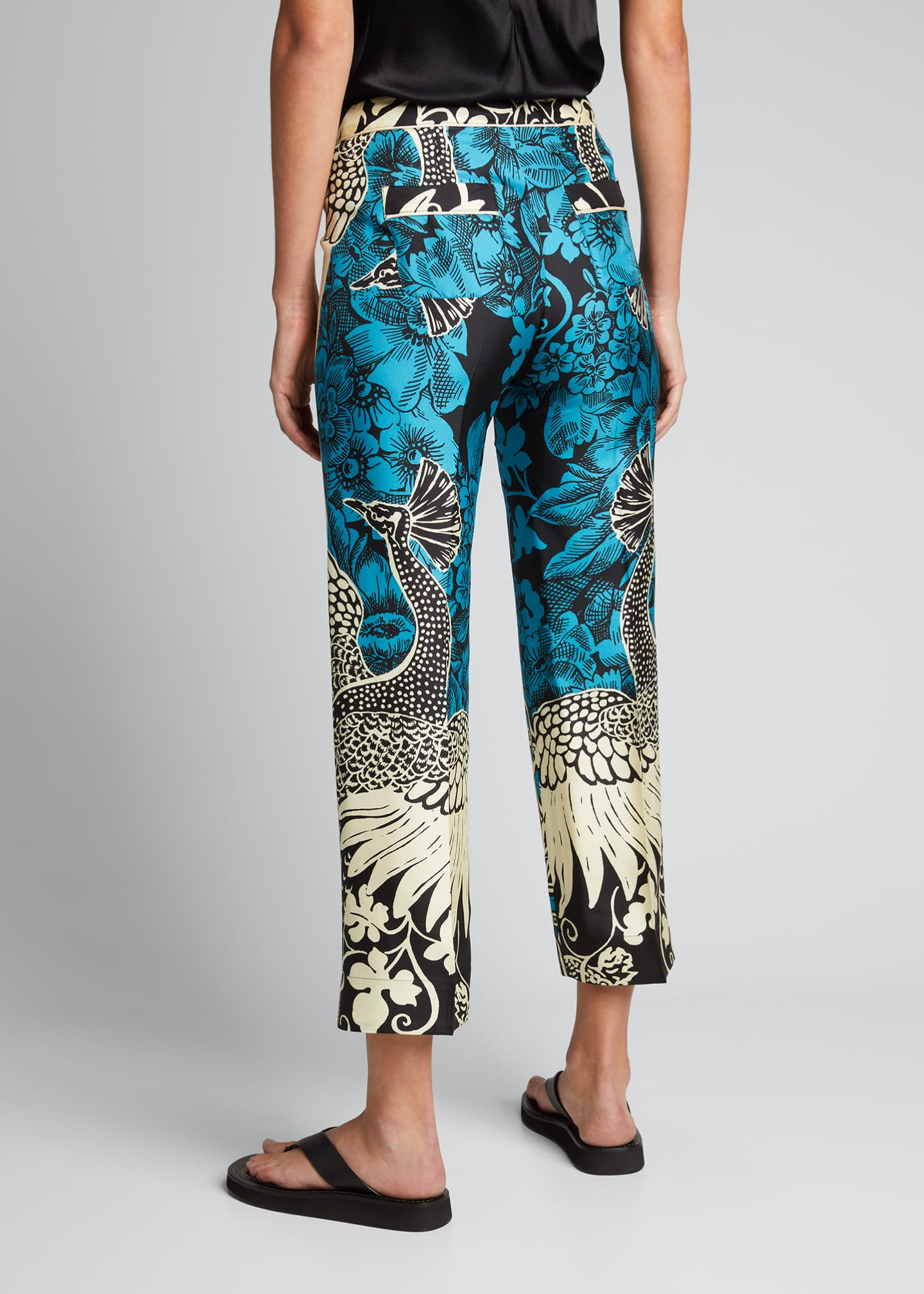 Image 2 of 5: Mixed Print Silk Trousers