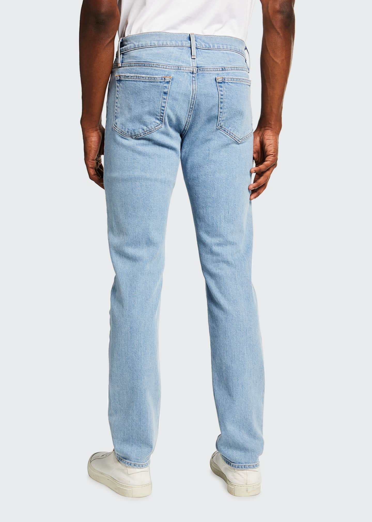 Image 2 of 3: Men's L'Homme Slim Light Wash Denim Jeans