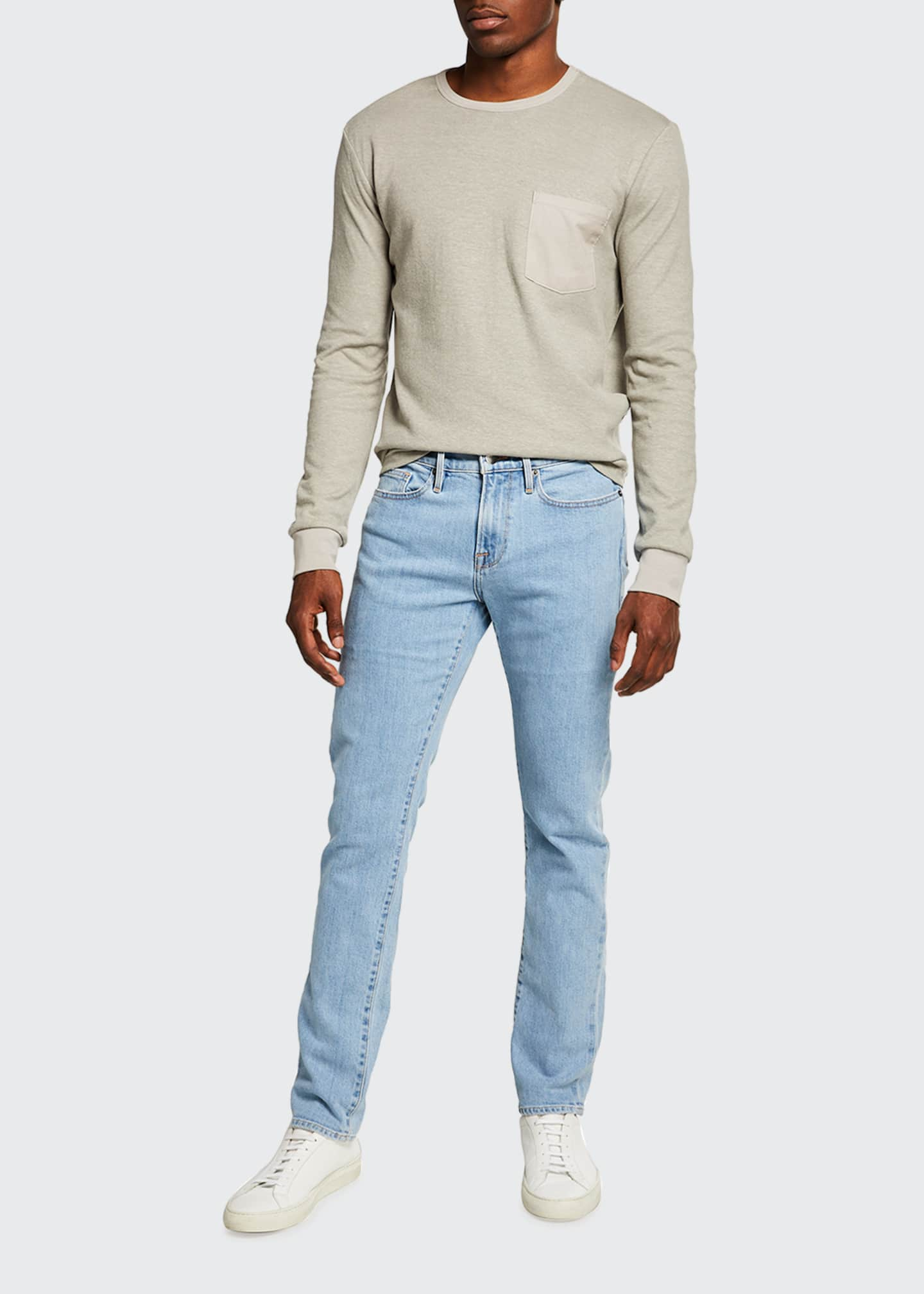 Image 3 of 3: Men's L'Homme Slim Light Wash Denim Jeans