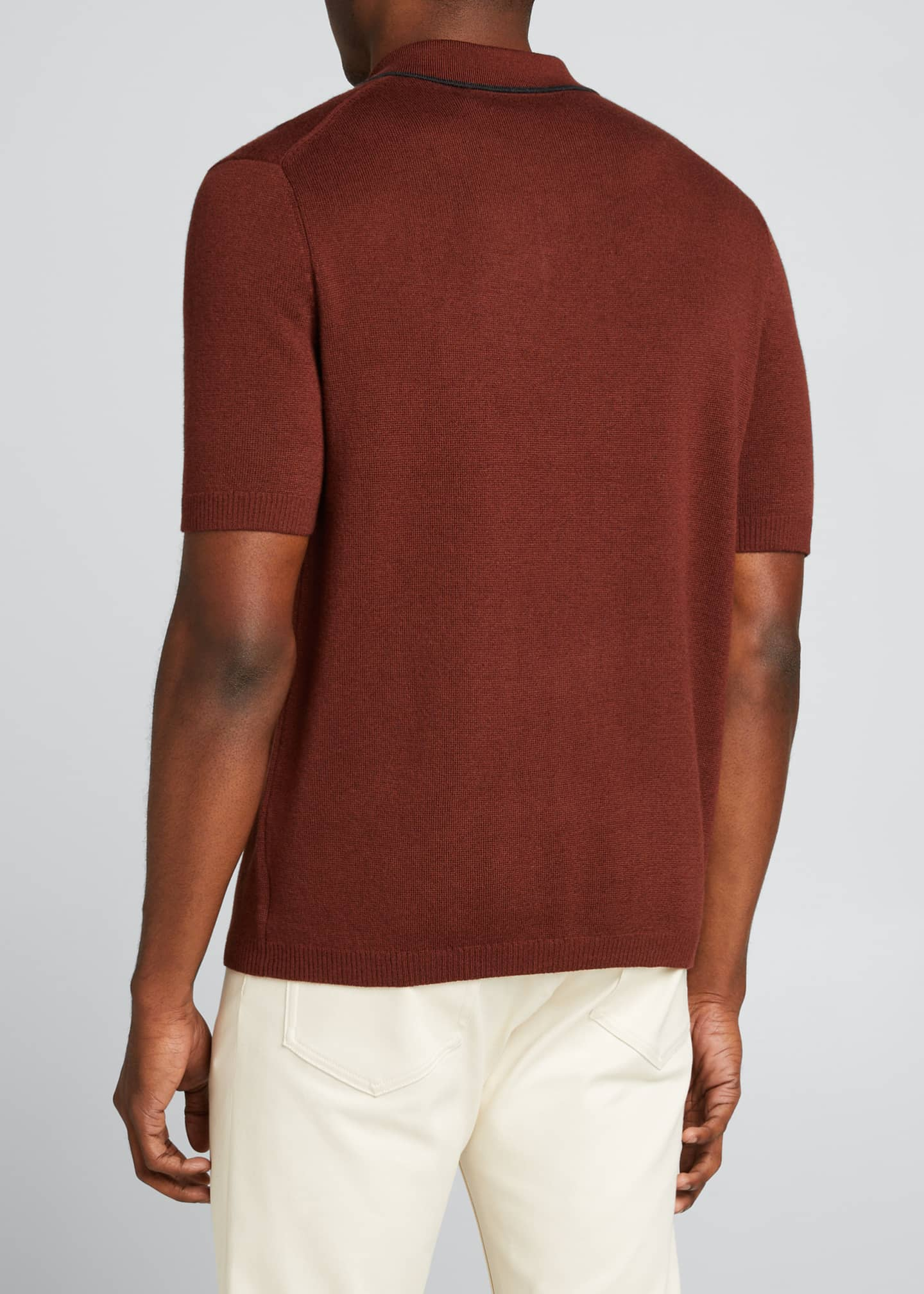 Image 2 of 5: Lassen Cotton Short-Sleeve Polo Shirt