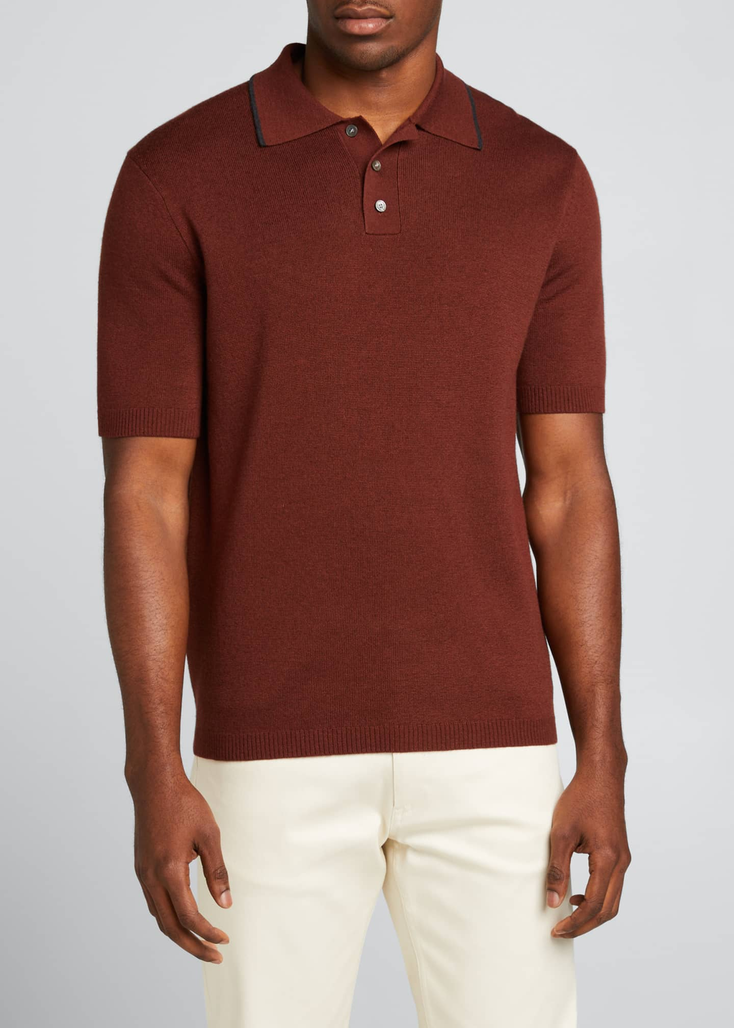 Image 3 of 5: Lassen Cotton Short-Sleeve Polo Shirt