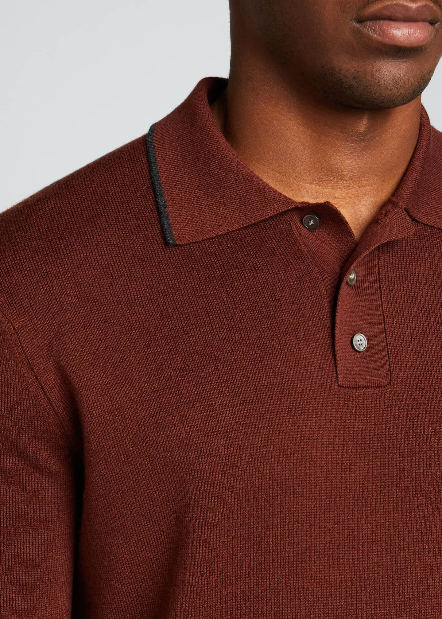 Image 4 of 5: Lassen Cotton Short-Sleeve Polo Shirt
