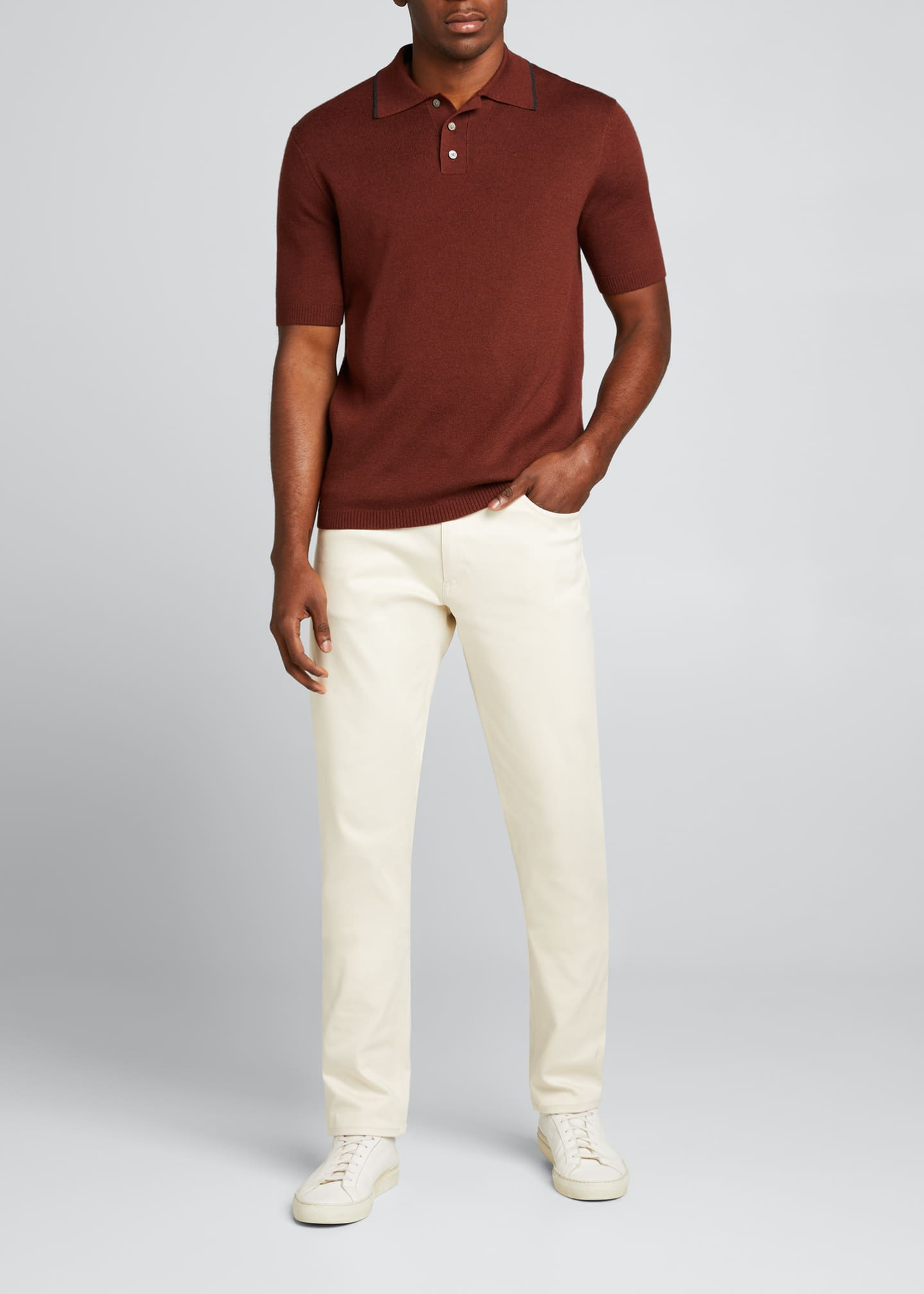 Image 1 of 5: Lassen Cotton Short-Sleeve Polo Shirt