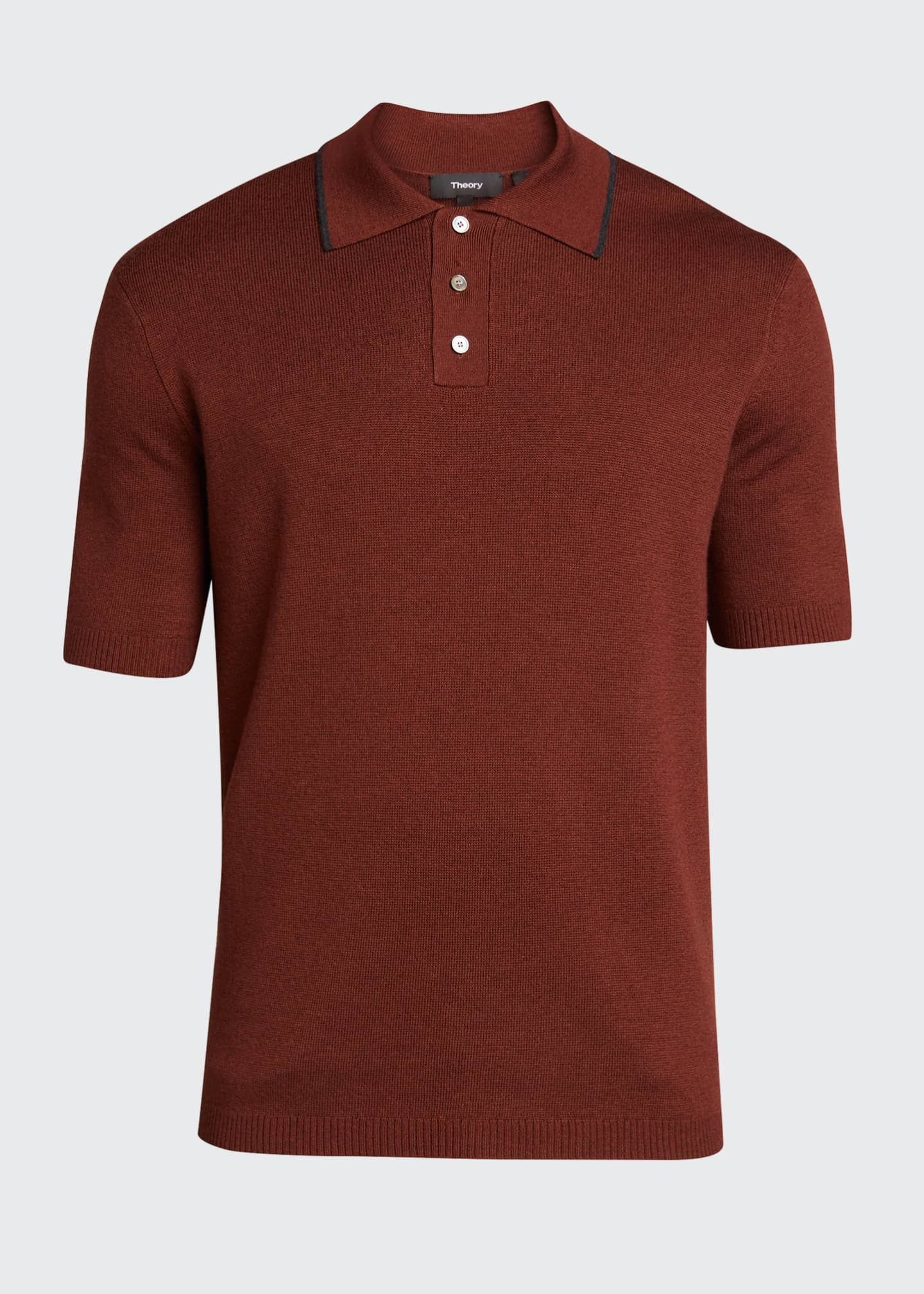 Image 5 of 5: Lassen Cotton Short-Sleeve Polo Shirt