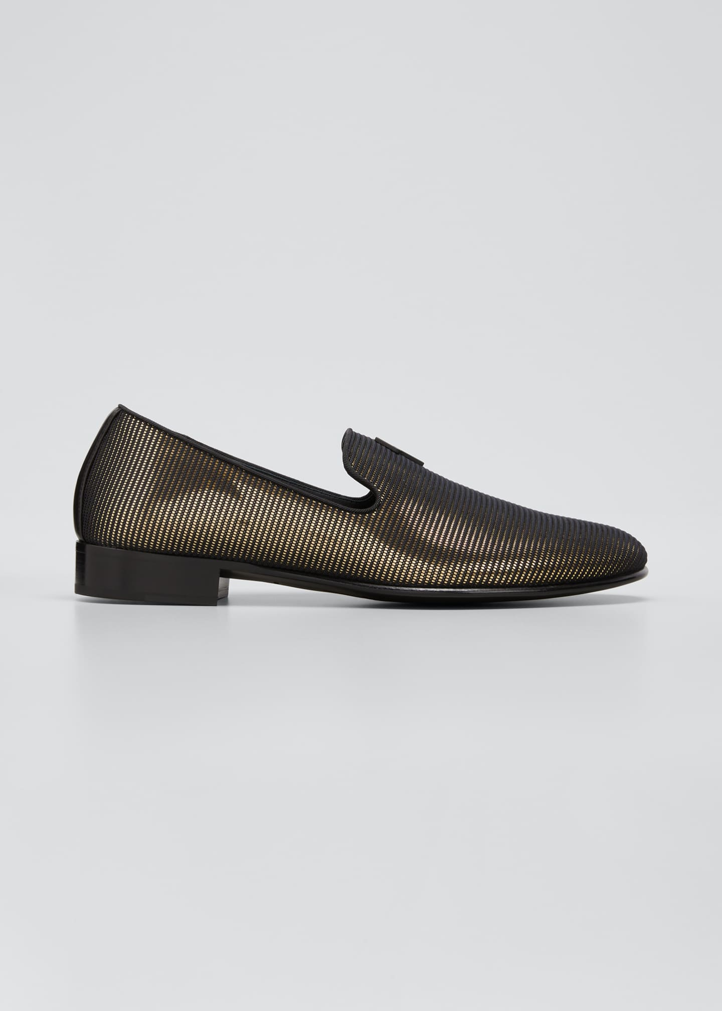 Image 1 of 3: Men's Ranguteu Stripe Metallic Slip-Ons