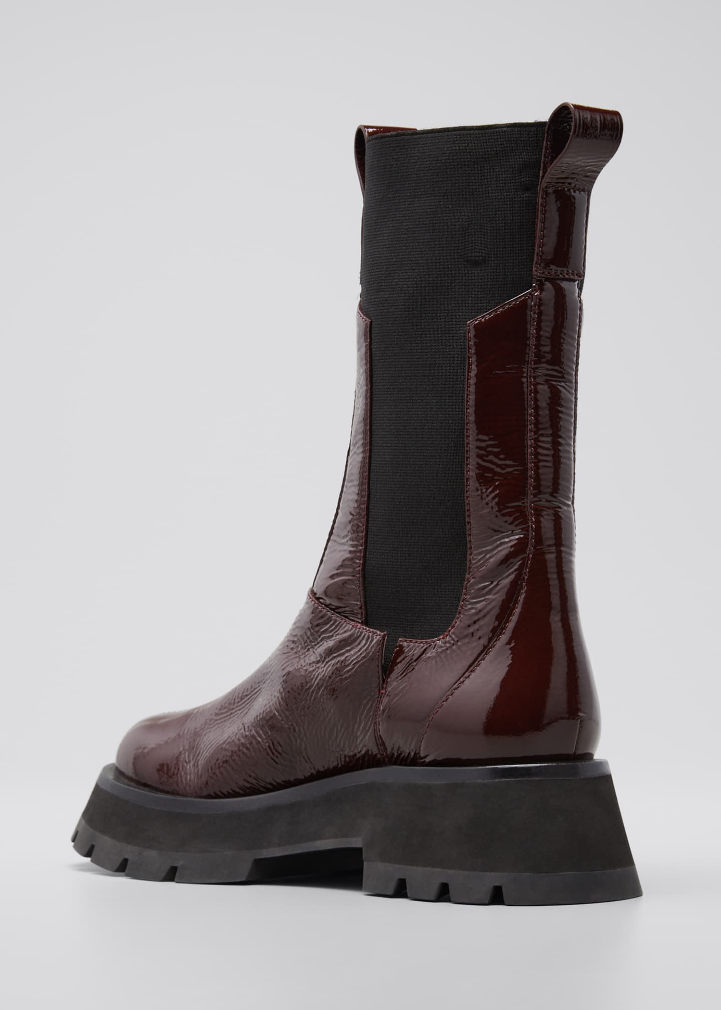 Image 2 of 3: Kate Lug-Sole Tall Combat Boots, Wine