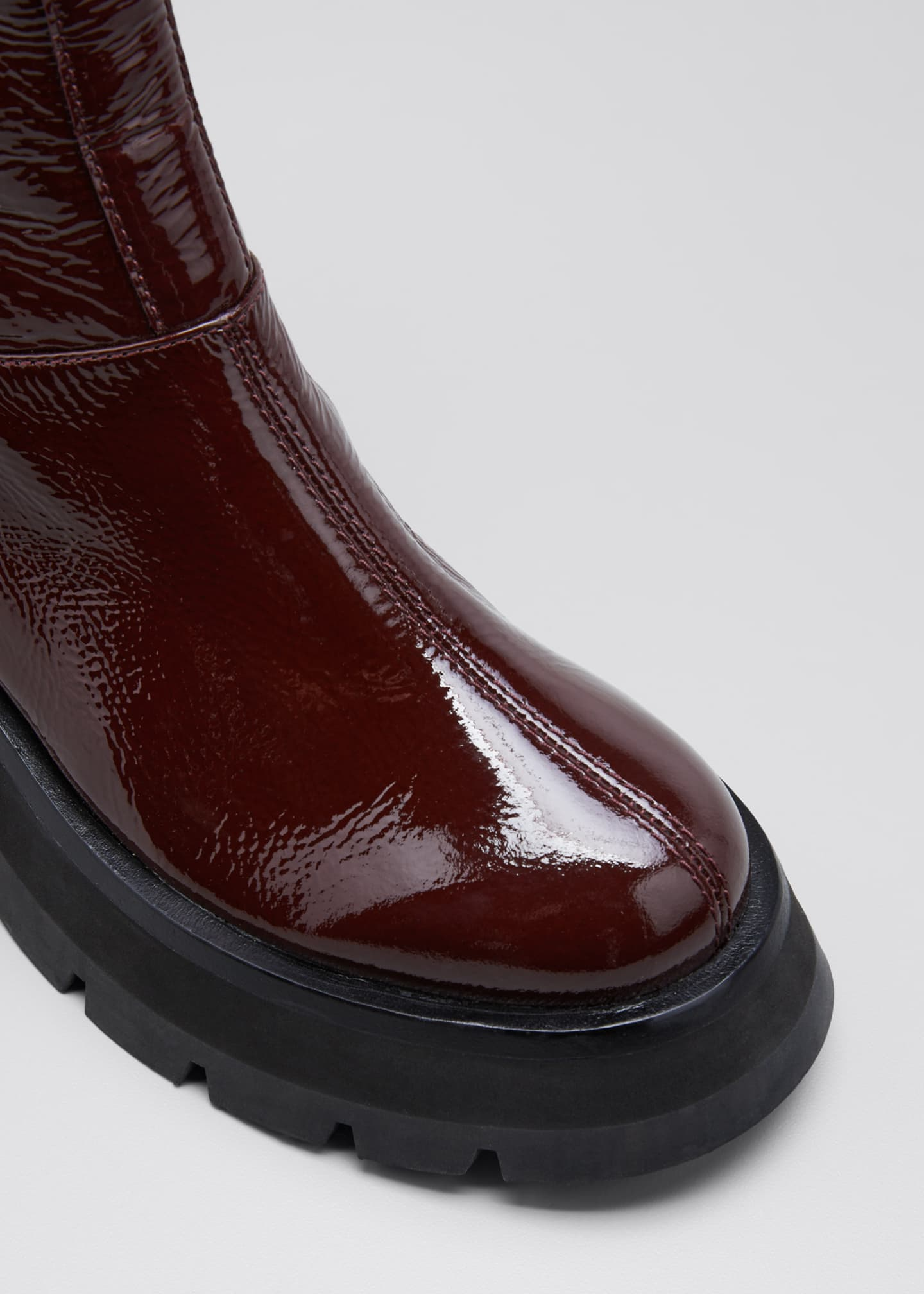 Image 3 of 3: Kate Lug-Sole Tall Combat Boots, Wine