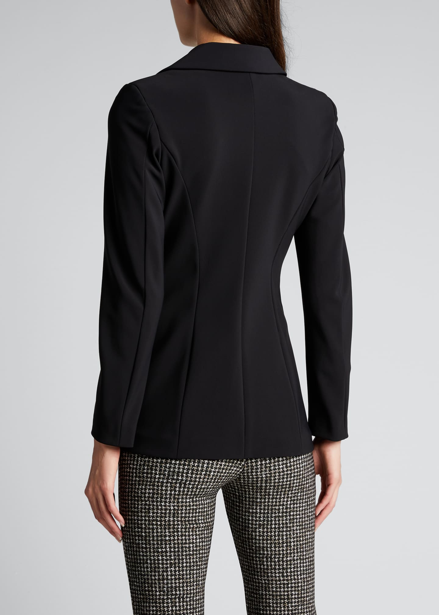 Image 2 of 5: Lua One-Button Scuba Jersey Blazer