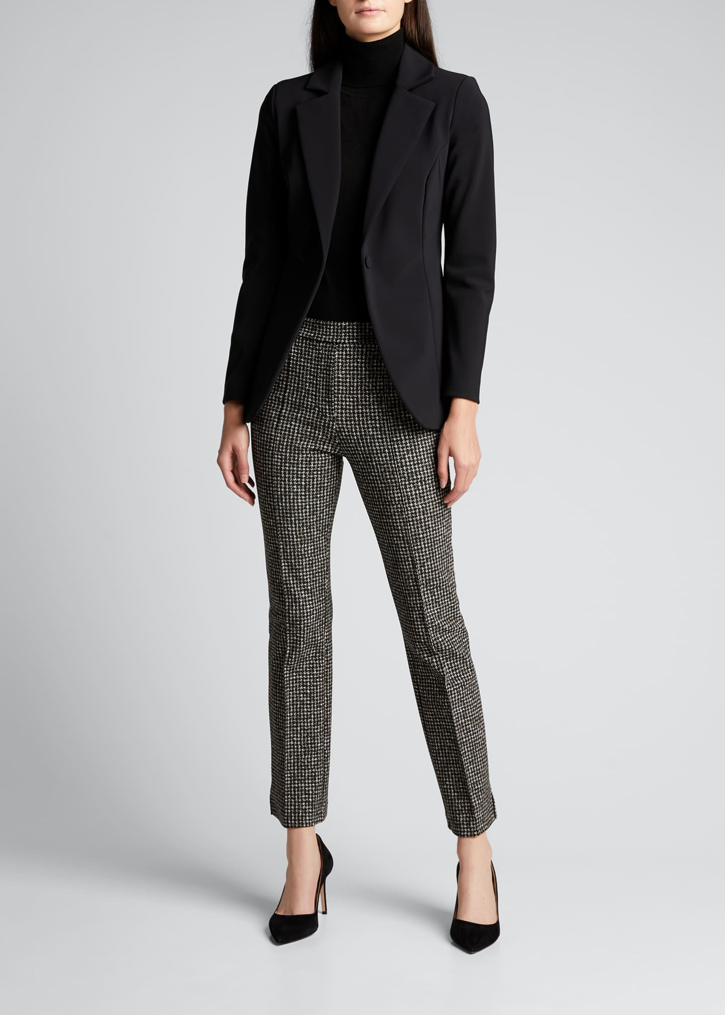 Lua One-Button Scuba Jersey Blazer