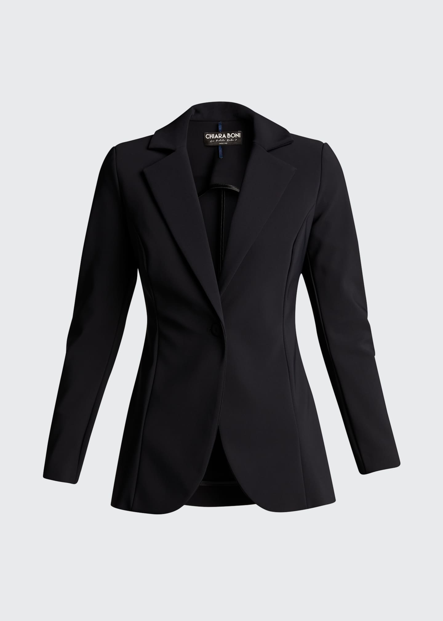 Image 5 of 5: Lua One-Button Scuba Jersey Blazer