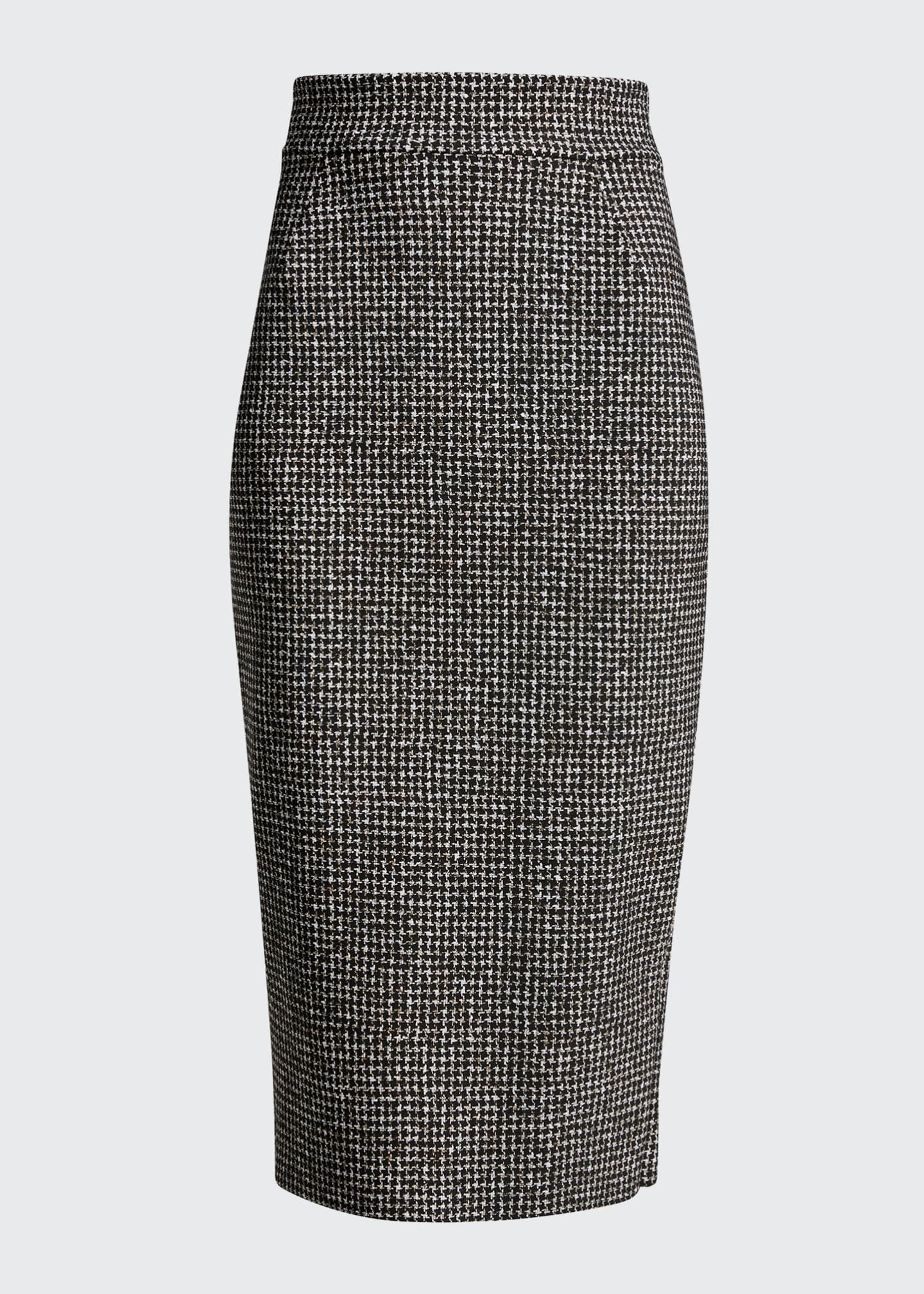 Image 5 of 5: Delfina Houndstooth Printed Knee-Length Pencil Skirt