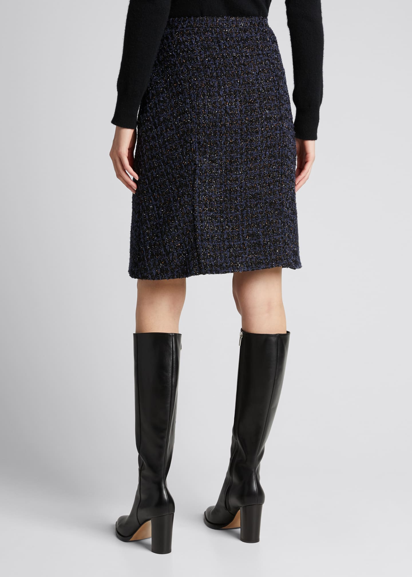 Image 2 of 5: Tweed Knee-Length Skirt
