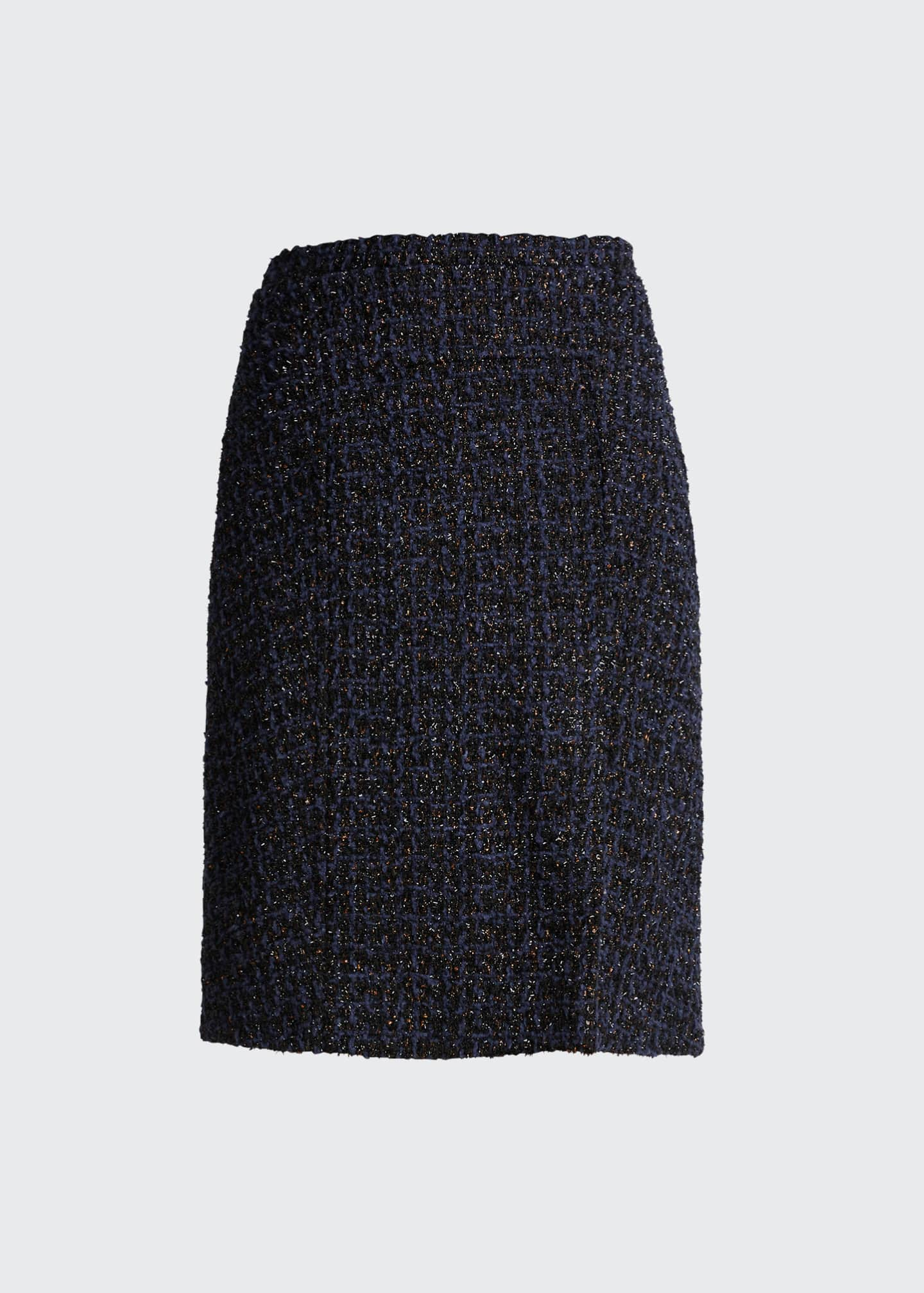 Image 5 of 5: Tweed Knee-Length Skirt