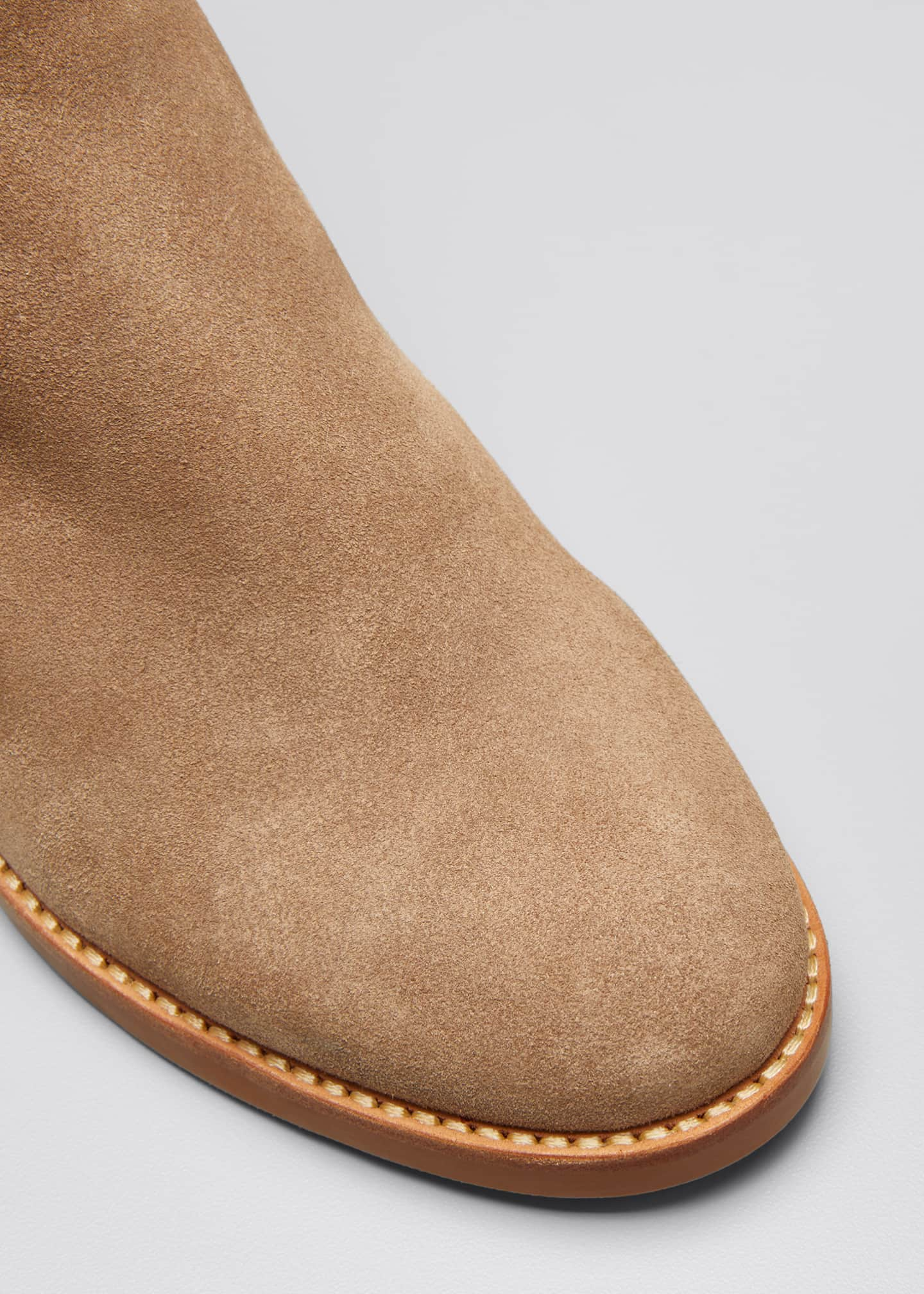 Image 3 of 3: Louise Shearling-Lined Suede Ankle Booties