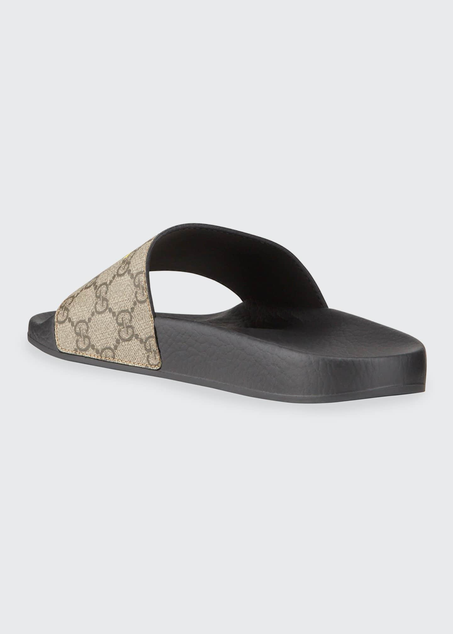 Image 3 of 4: Pursuit Not Fake GG Logo Slide Sandals