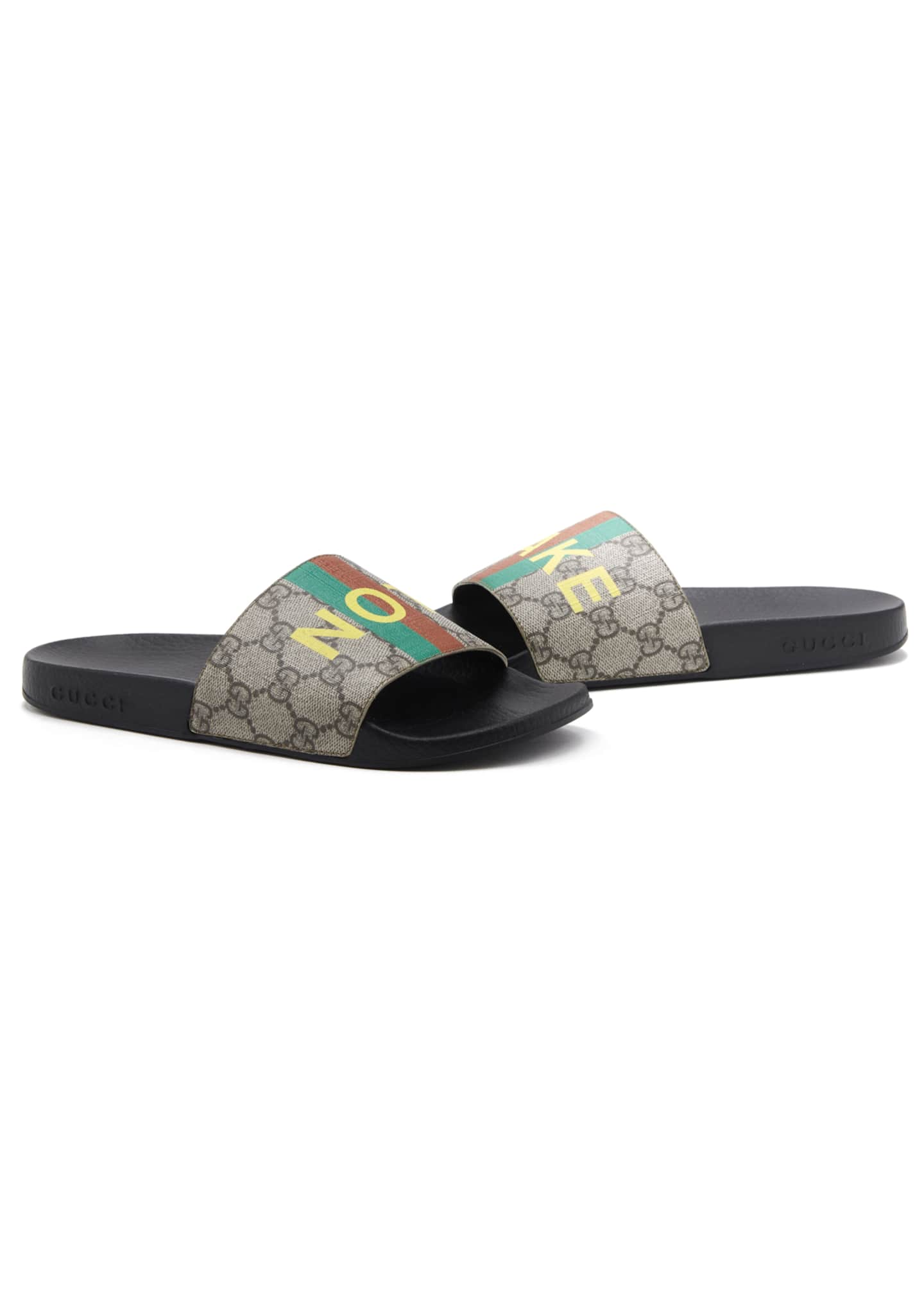 Image 1 of 4: Pursuit Not Fake GG Logo Slide Sandals