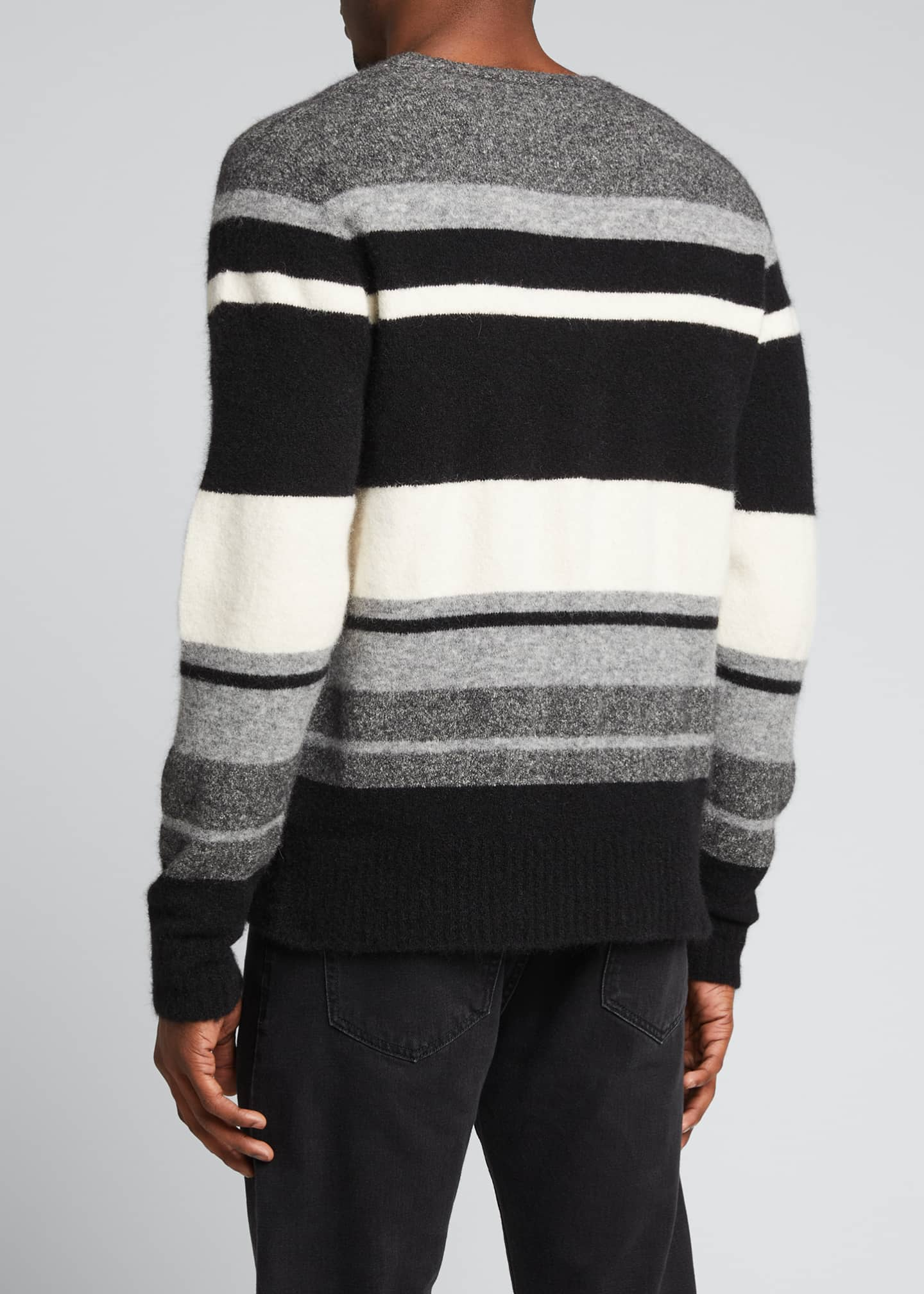 Image 2 of 5: Men's Macro Multi-Stripe Sweater