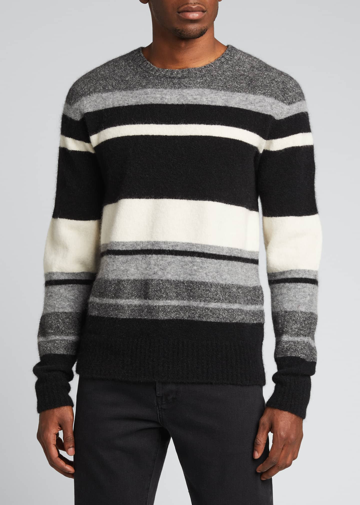 Image 3 of 5: Men's Macro Multi-Stripe Sweater