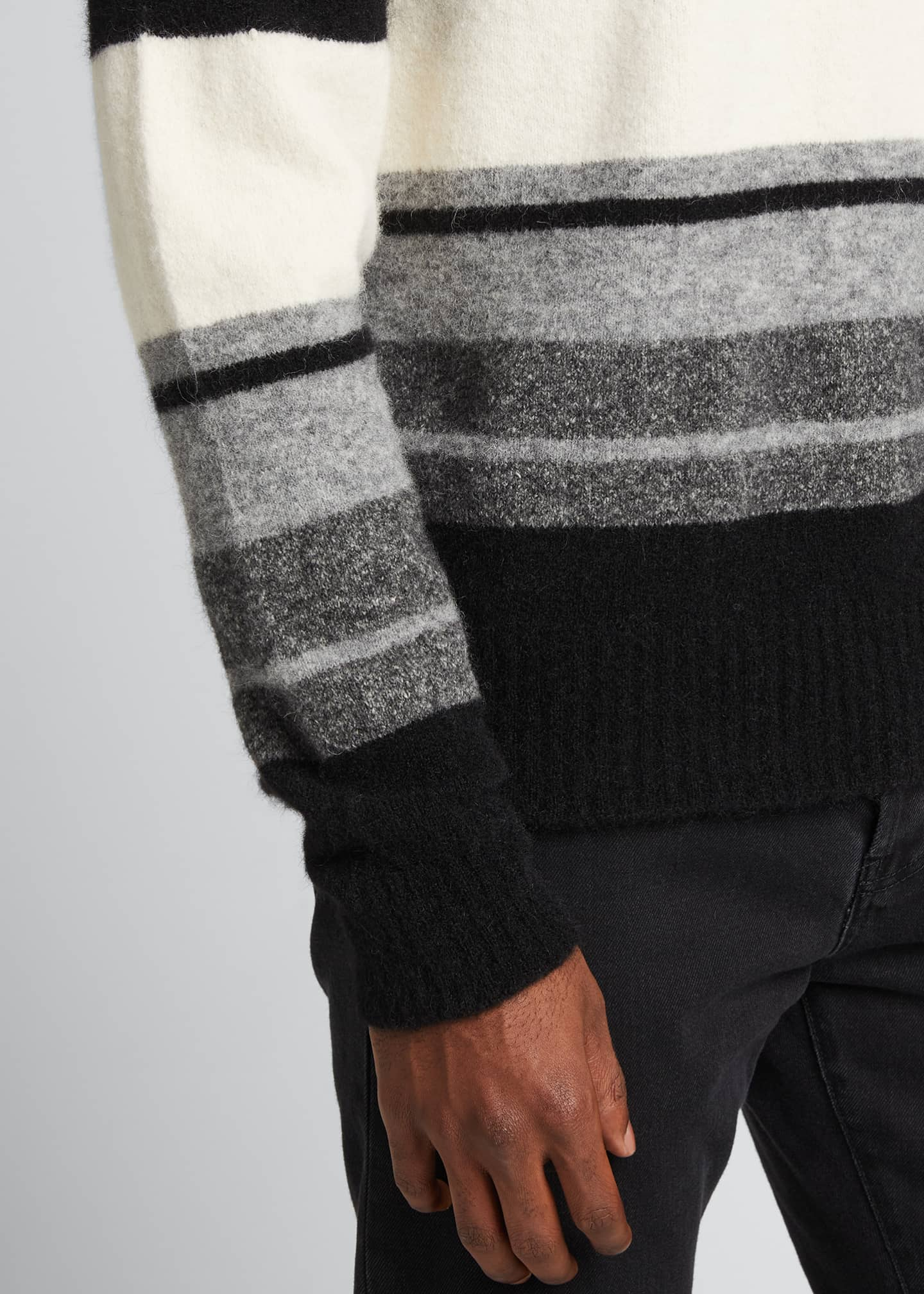 Image 4 of 5: Men's Macro Multi-Stripe Sweater
