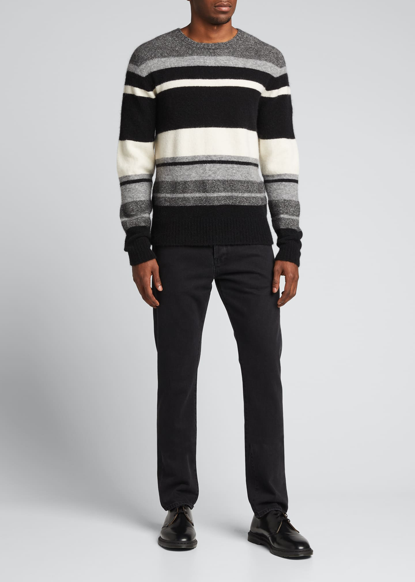 Image 1 of 5: Men's Macro Multi-Stripe Sweater