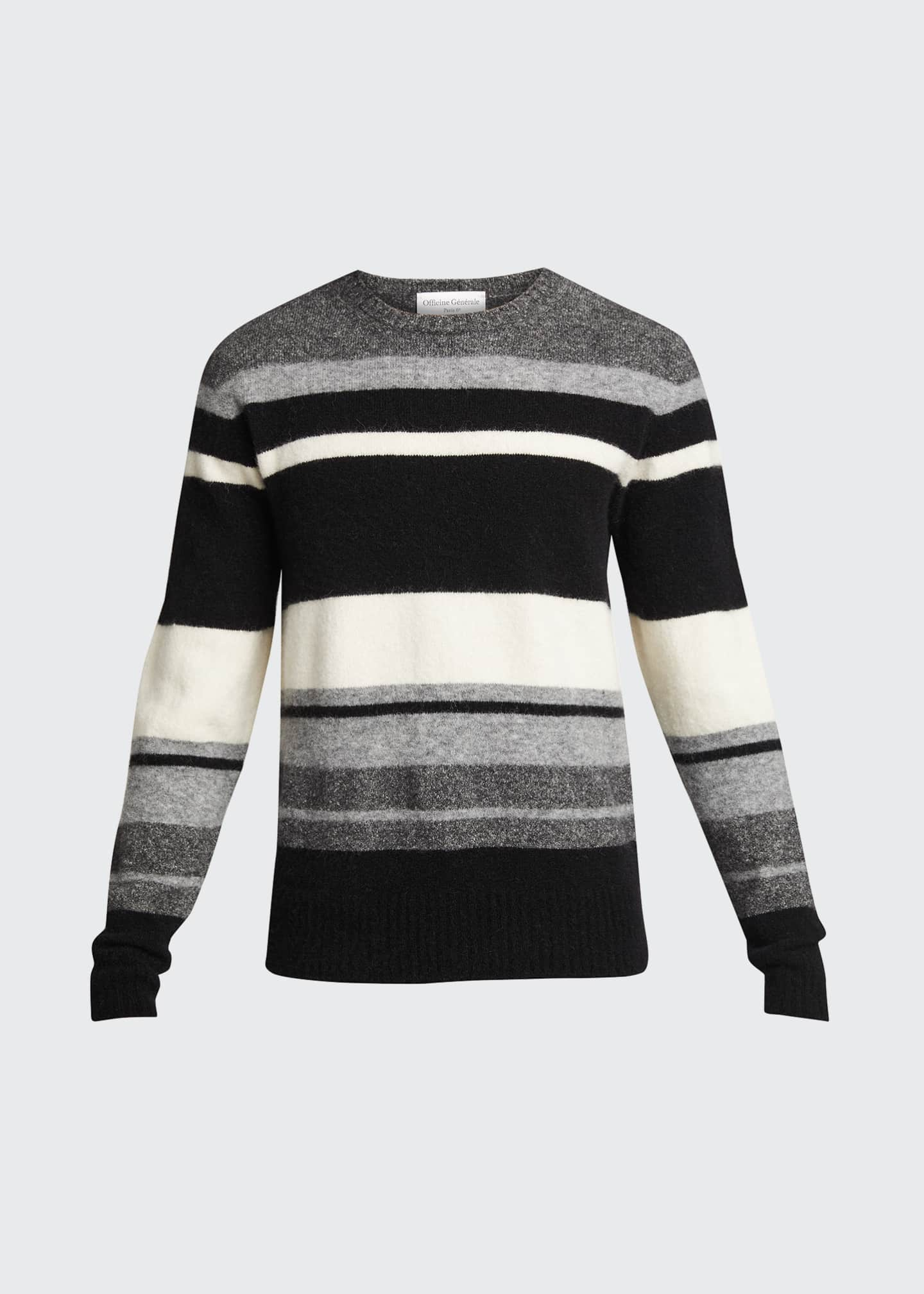 Image 5 of 5: Men's Macro Multi-Stripe Sweater