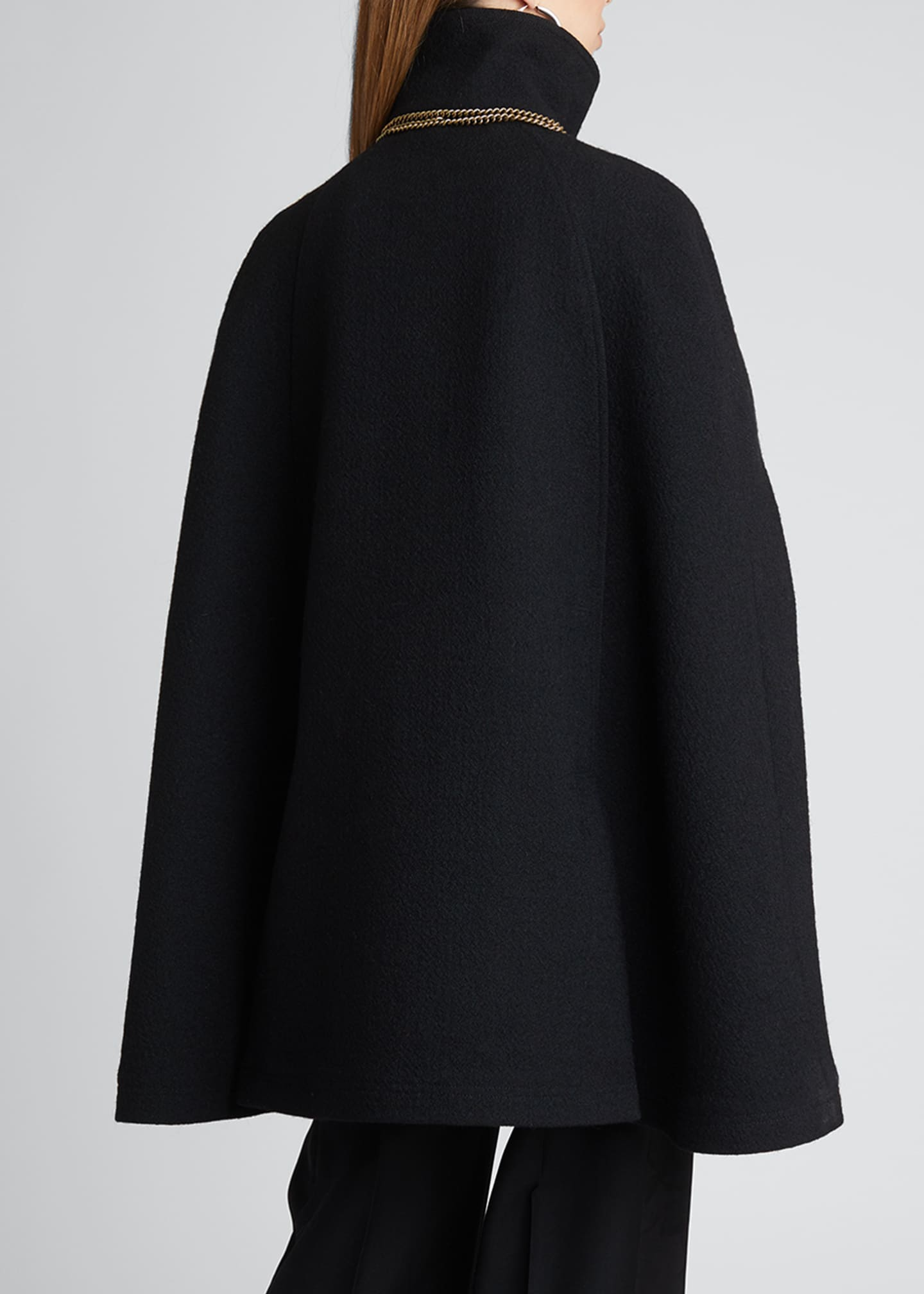 Image 2 of 5: Military Wool-Blend Cape