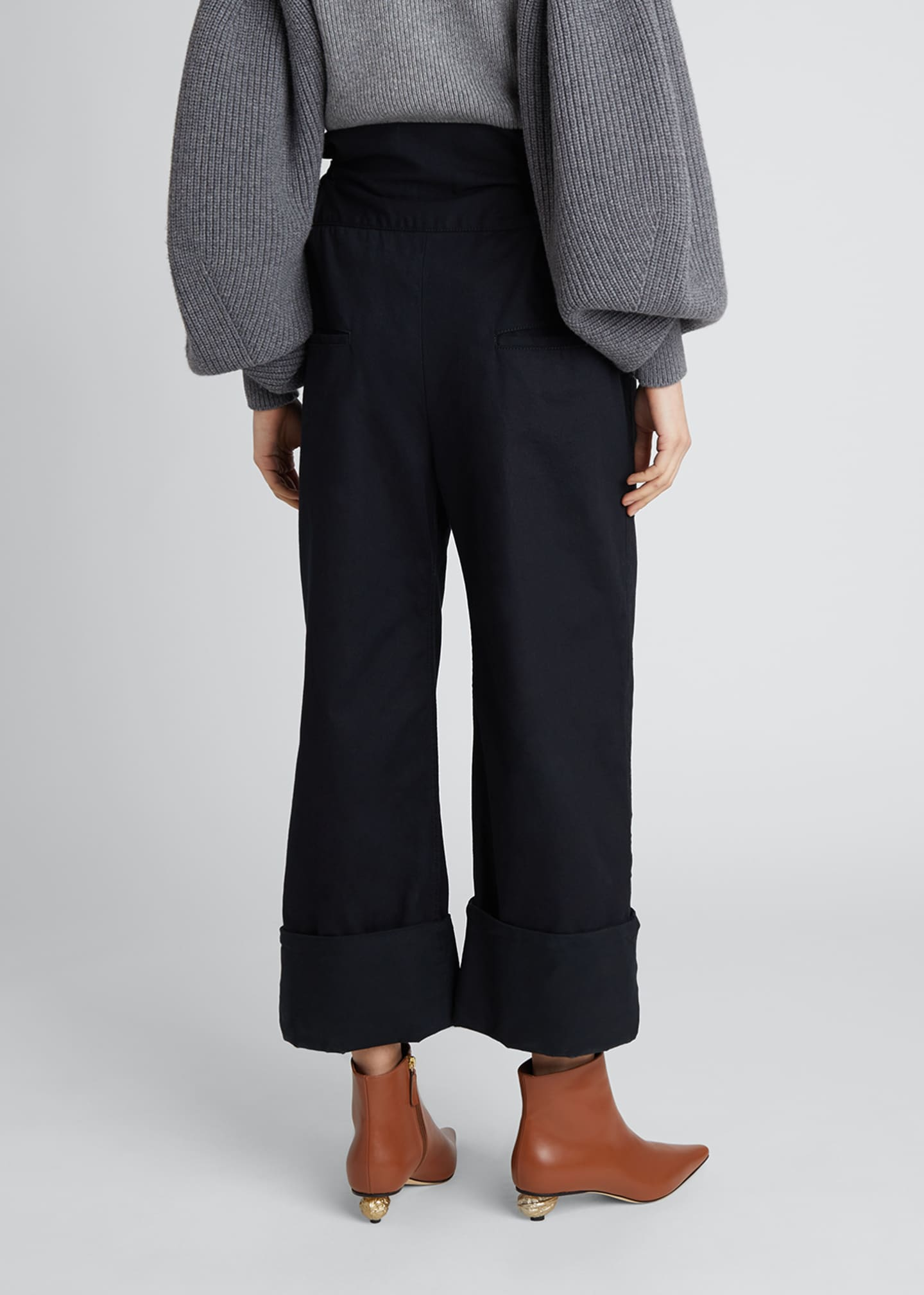 Image 2 of 4: Oversized Turn-Up Trousers