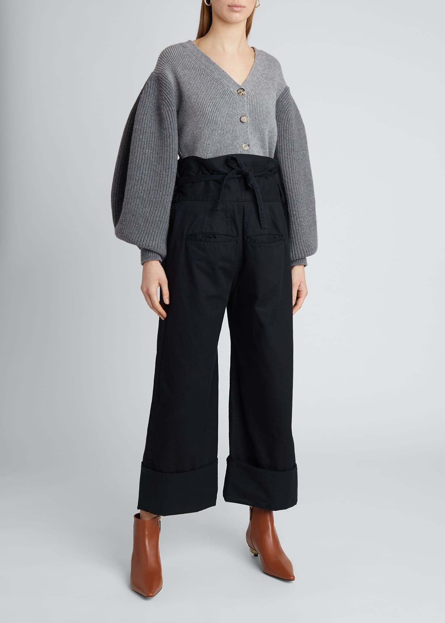 Image 1 of 4: Oversized Turn-Up Trousers