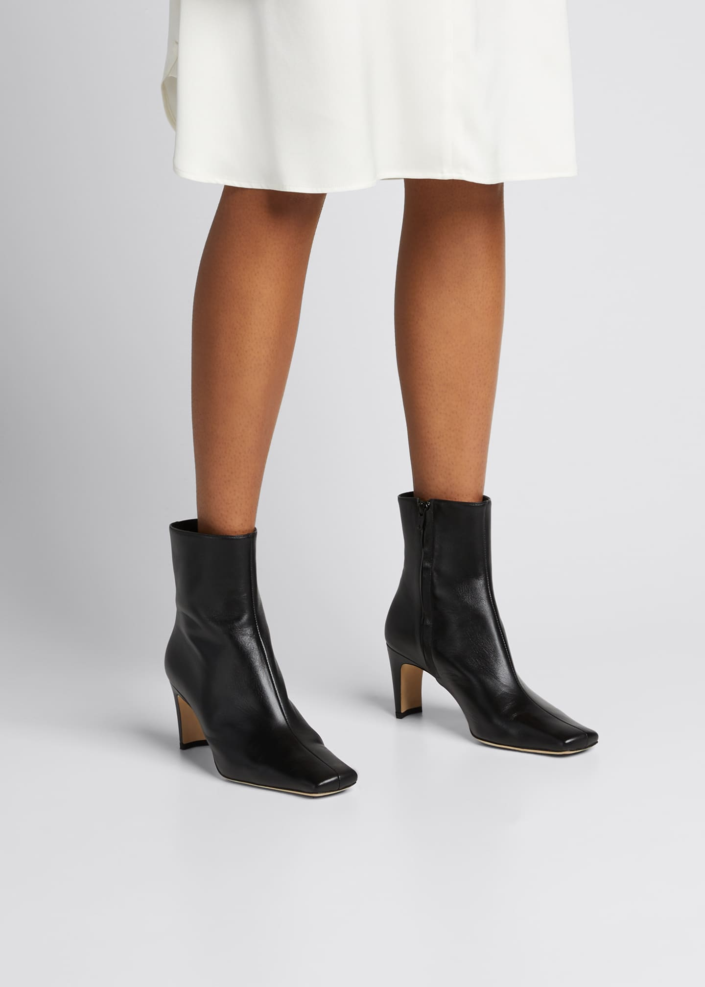 Image 2 of 5: Eva Square-Toe Ankle Booties