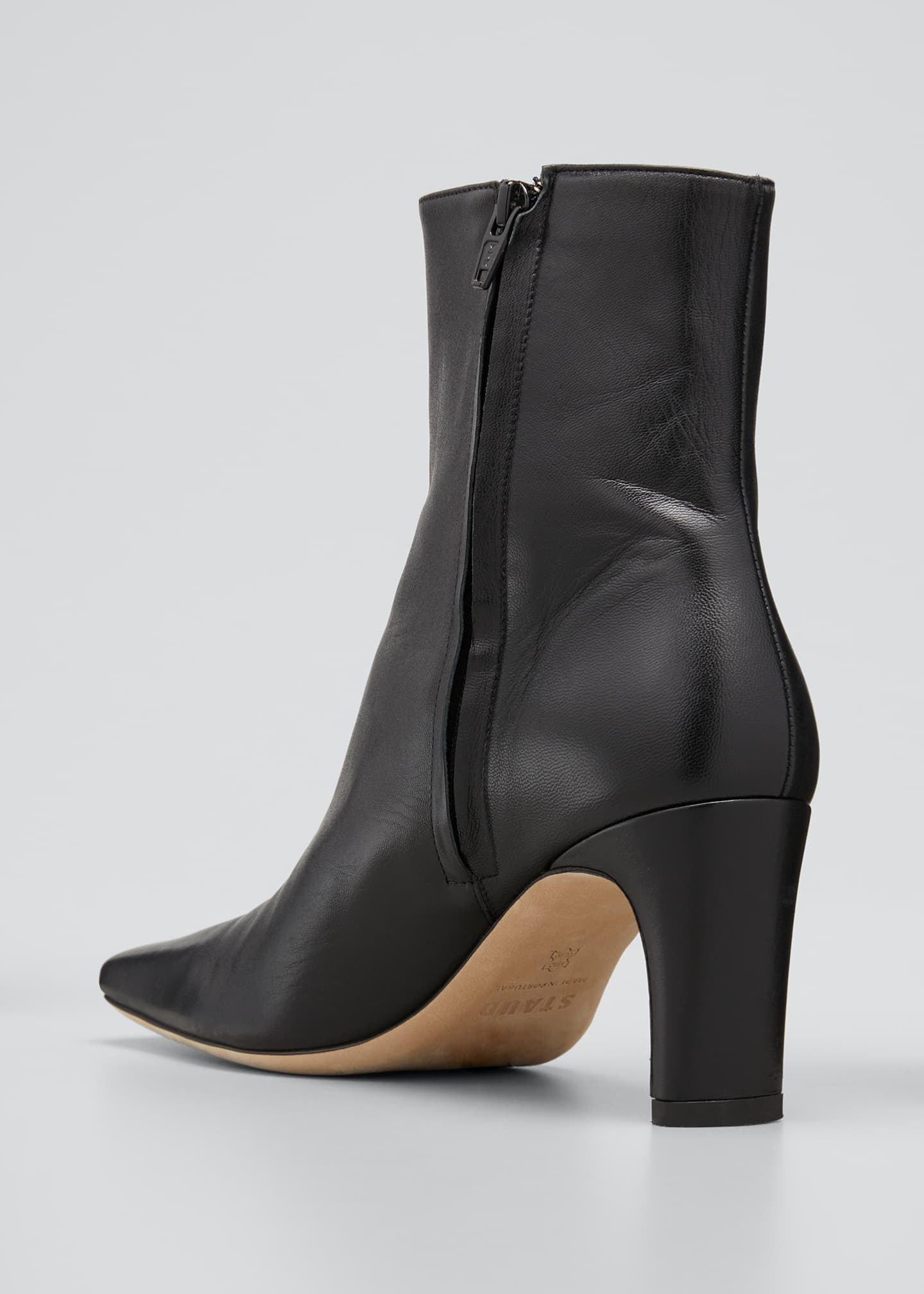 Image 4 of 5: Eva Square-Toe Ankle Booties
