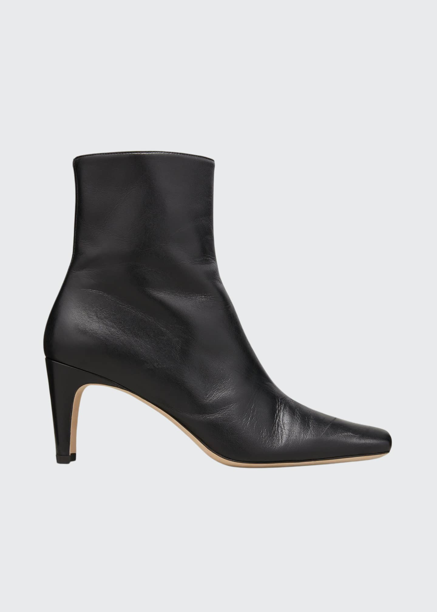 Image 1 of 5: Eva Square-Toe Ankle Booties