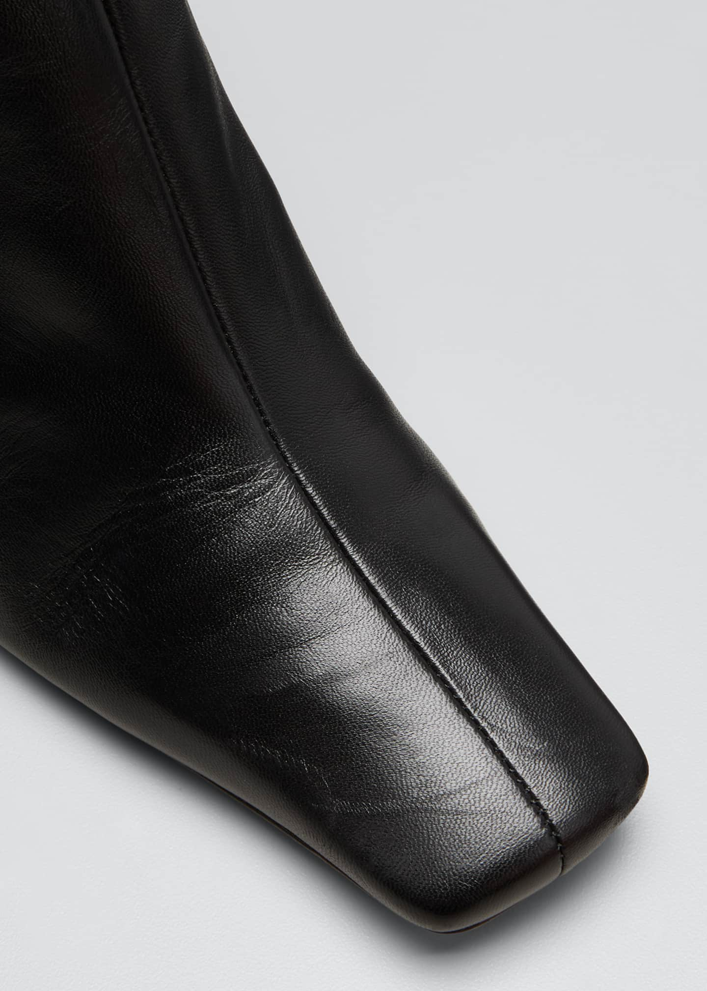 Image 5 of 5: Eva Square-Toe Ankle Booties